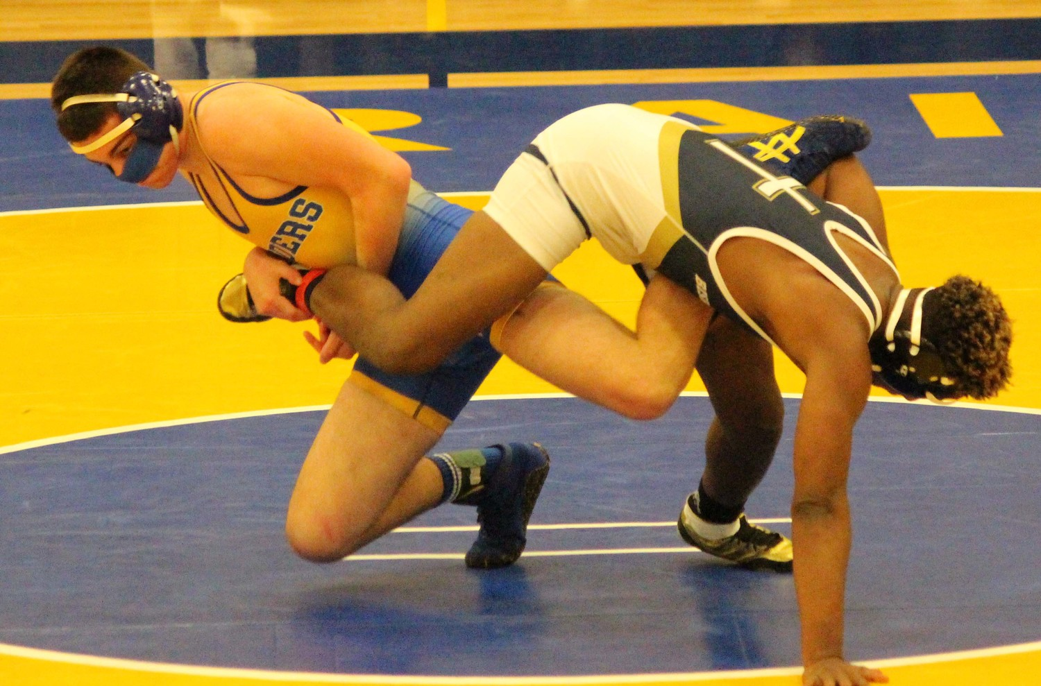 Middletown junior Ryan Berstler recorded a 58-second pin over Bishop McDevitt's Jackson Shields at 120 pounds.