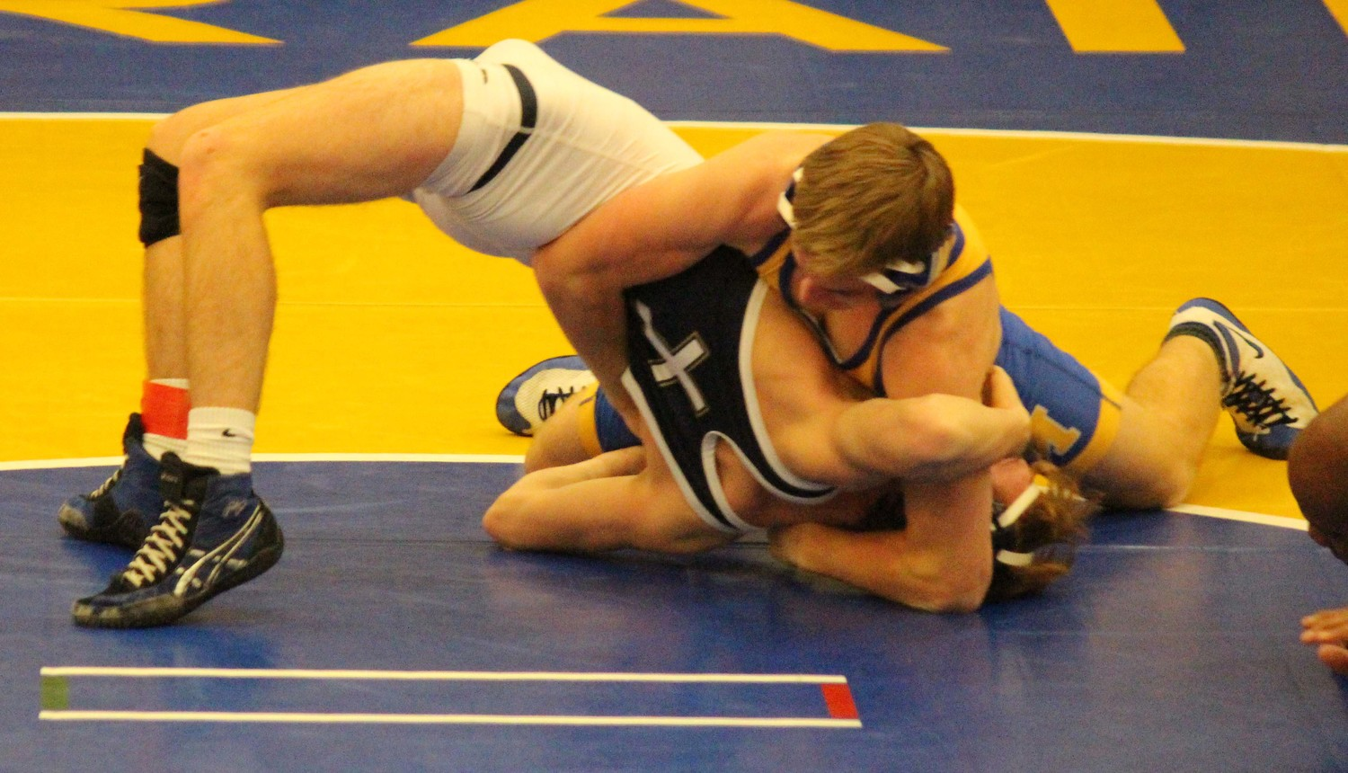Joey Spear recorded a first-period pin at 138 pounds vs. Bishop McDevitt.