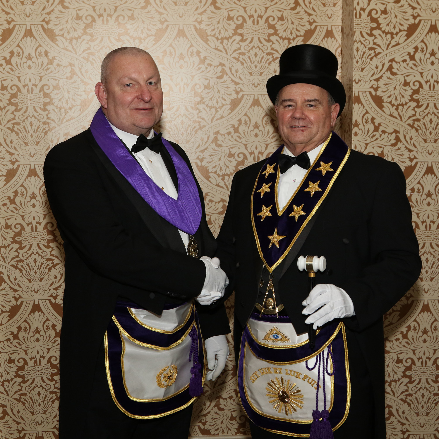 Right Worshipful Grand Master of the Grand Lodge of Pennsylvania S. Eugene Herritt, left, recently appointed Henry J. Federowicz as new district deputy grand master for Masonic District 2.