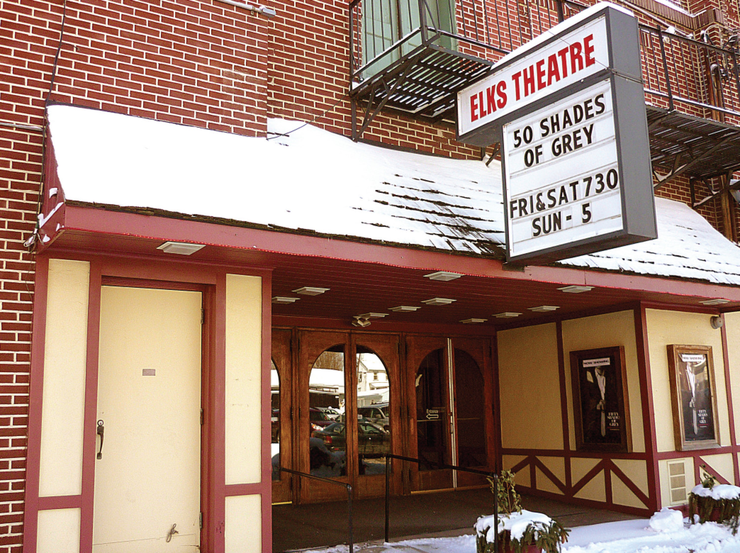 The Elks Theatre is seen here in the spring of 2015, before it was shut down.