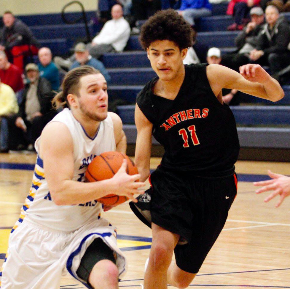 Brady Fox drives toward the basket against East Pennsboro.