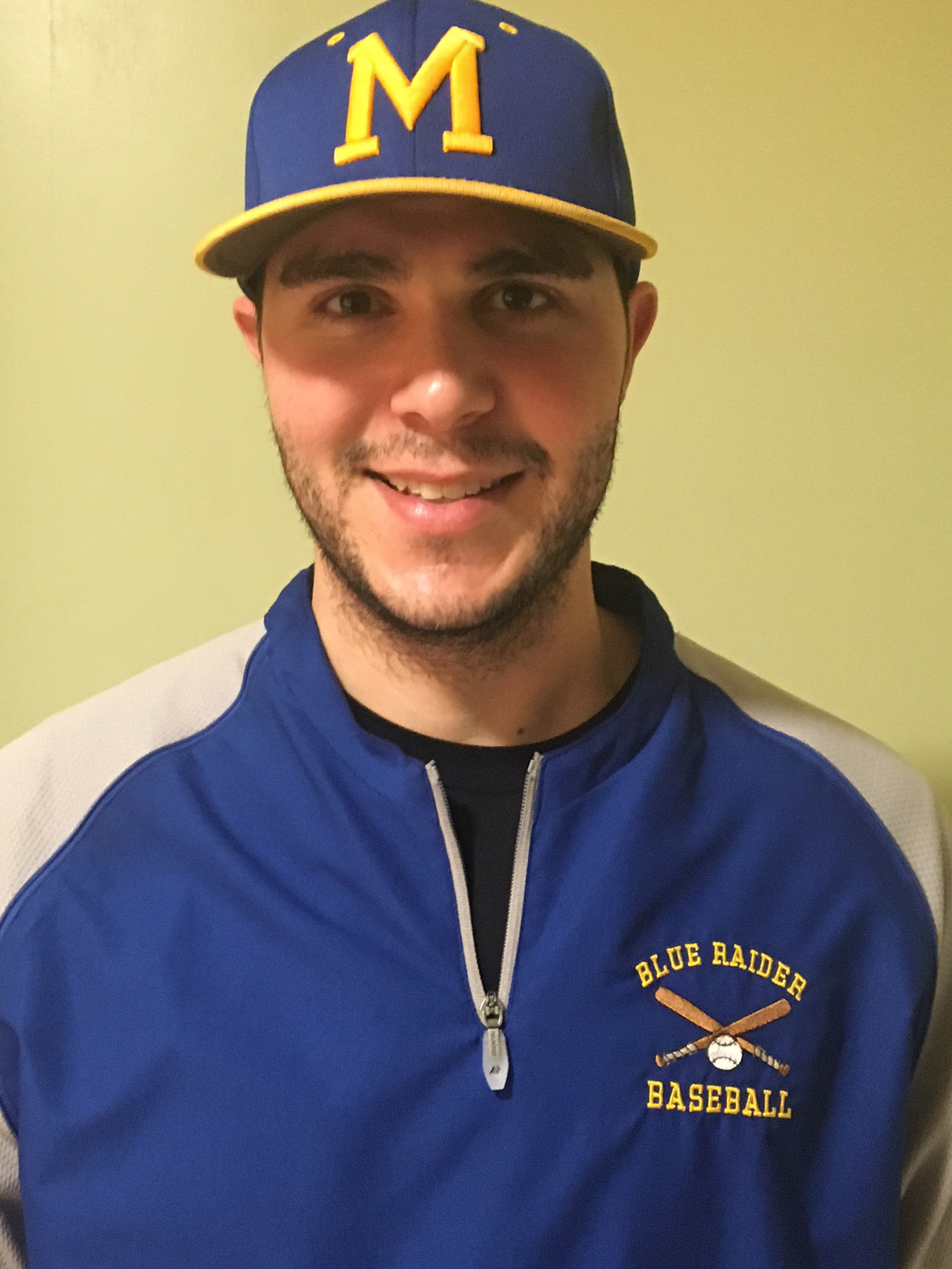 Middletown 2010 graduate Mike Lupia is returning to life as a Blue Raider, as the new head coach of the varsity baseball team at Middletown Area High School.