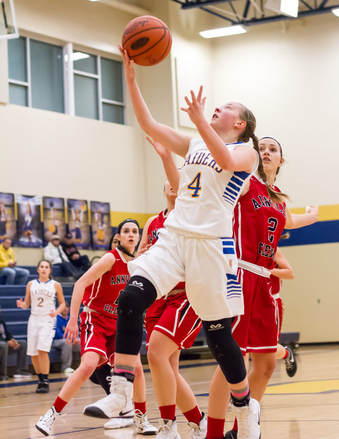 Sophomore Kate Fitzpatrick drives toward the basket vs. Annville-Cleona on Thursday.