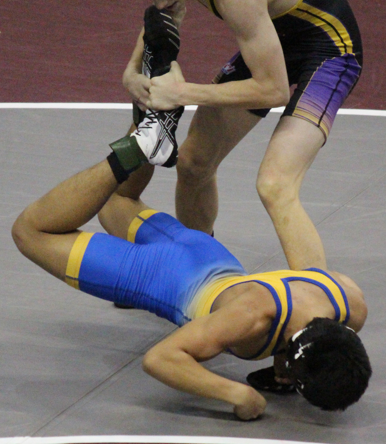 Zach Malay showed improvement with a 6-5 decision in a rematch with Andrew Stafford of Boiling Springs, who had defeated him a week prior.