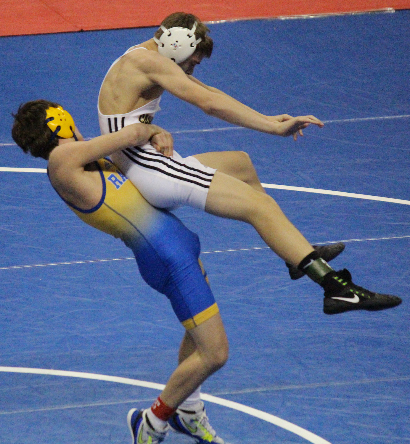 At 120 pounds, Ryan Berstler squared off against Josh Tuckey of Biglerville, a match in which Berstler was able to score a hotly contested escape with 1 second on the clock to seize the win.