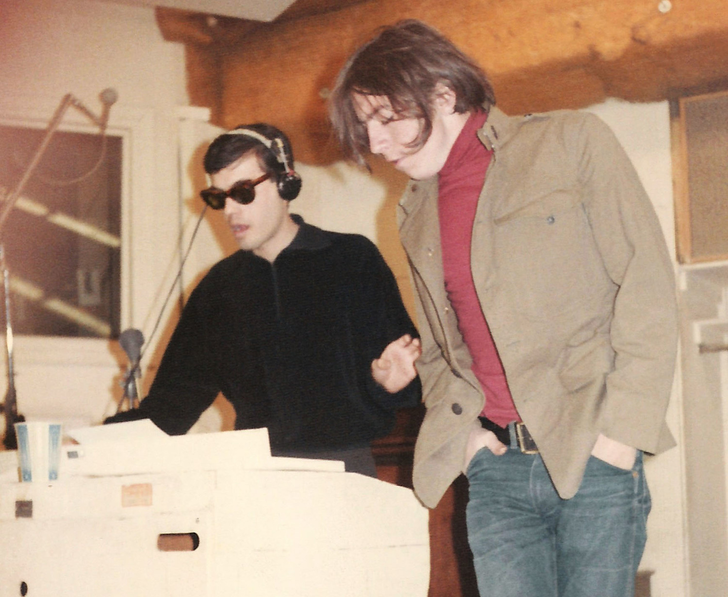Joe Kookoolis and Scott Fagan recording at Associated Studios in New York City in 1965.