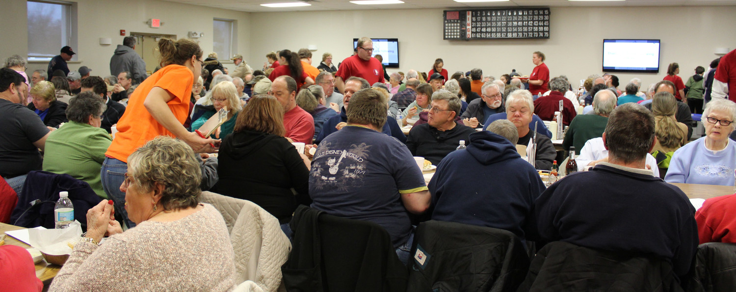 The Londonderry Fire Company's social hall was filled during the Friday fish fry March 2.