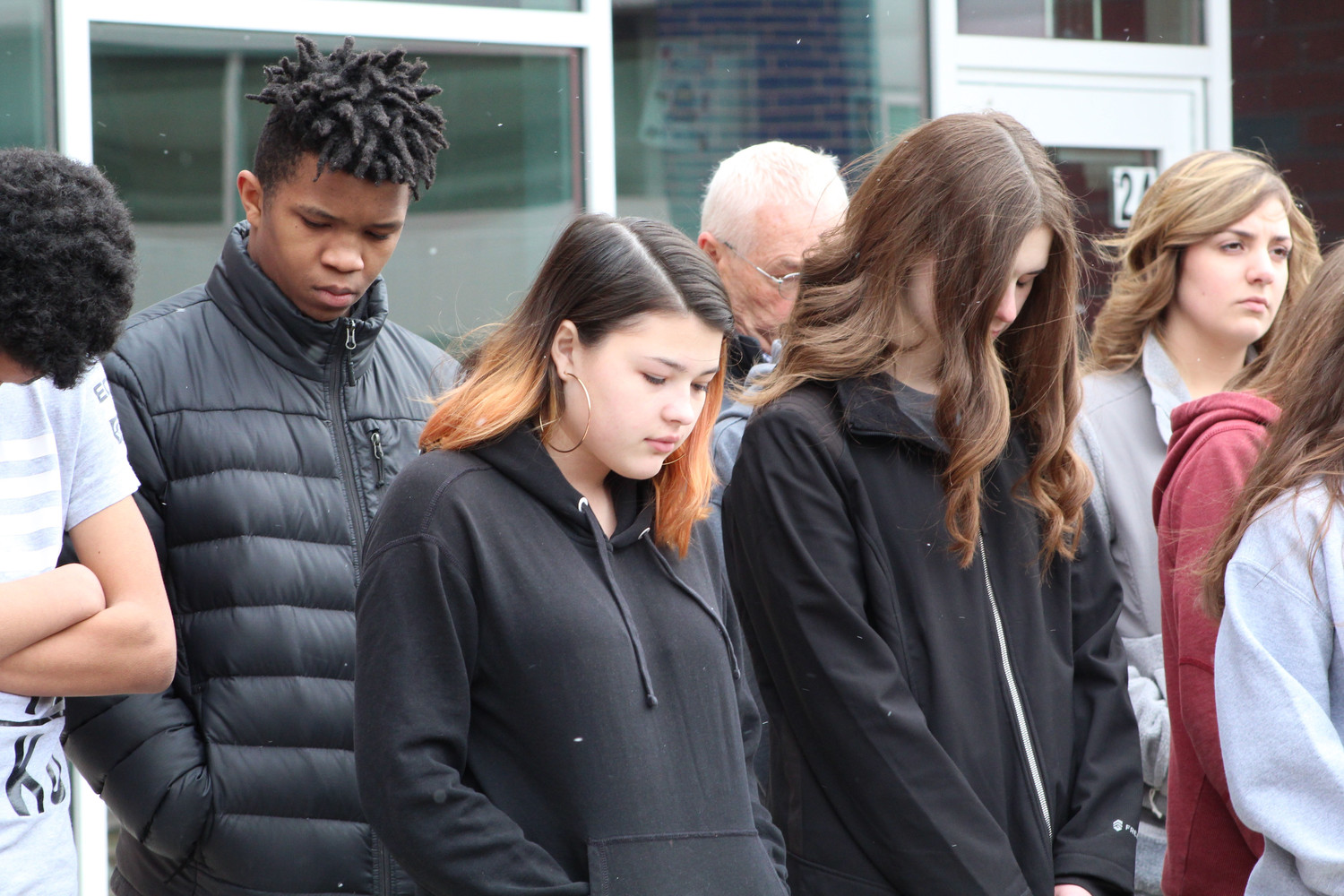 Students including junior Adrianna Martinez stood in silence for 17 minutes.