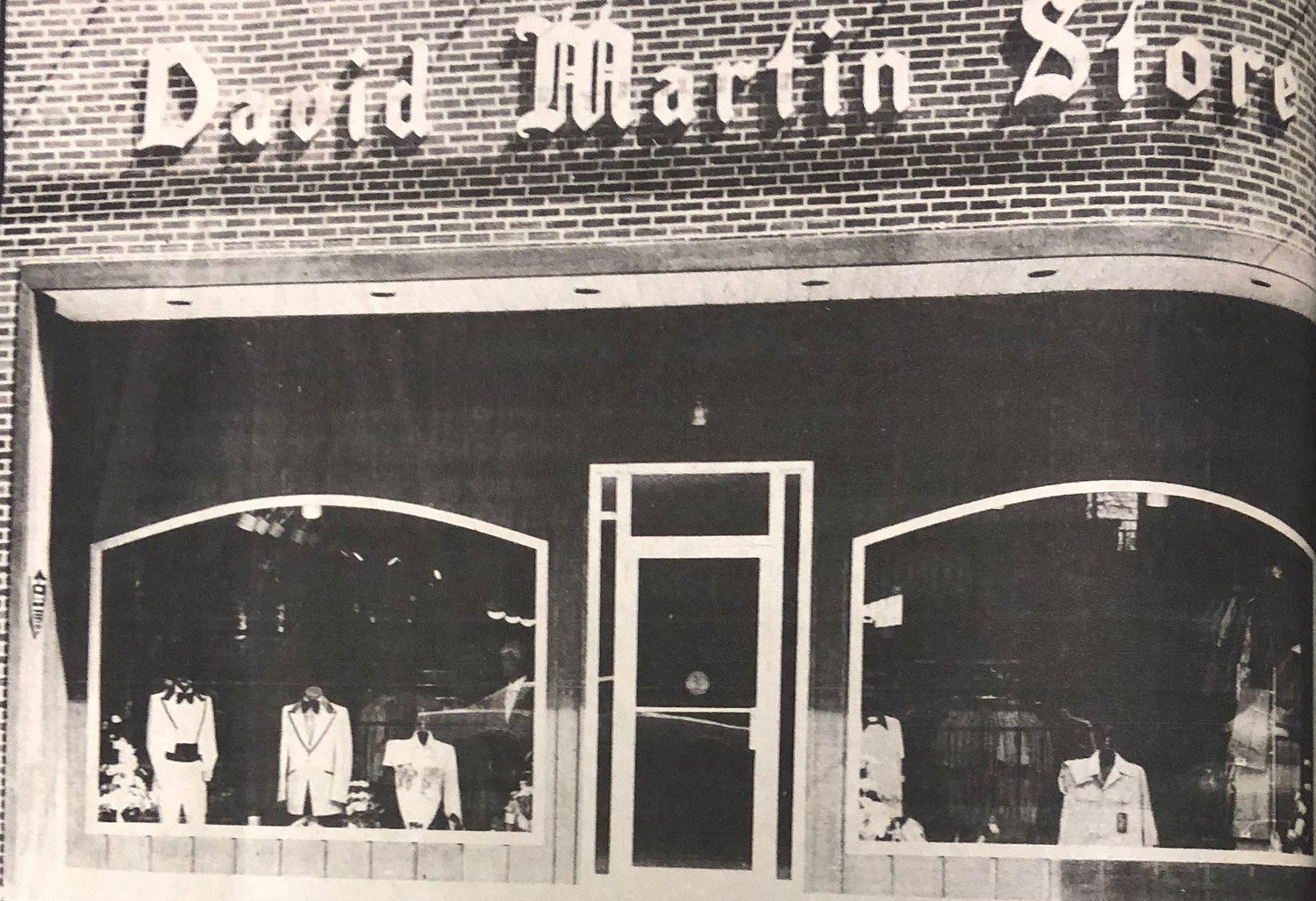 This photo accompanied the ad for the new David Martin Store at 20 S. Union St. in downtown Middletown. The building is now the home of the Press & Journal.