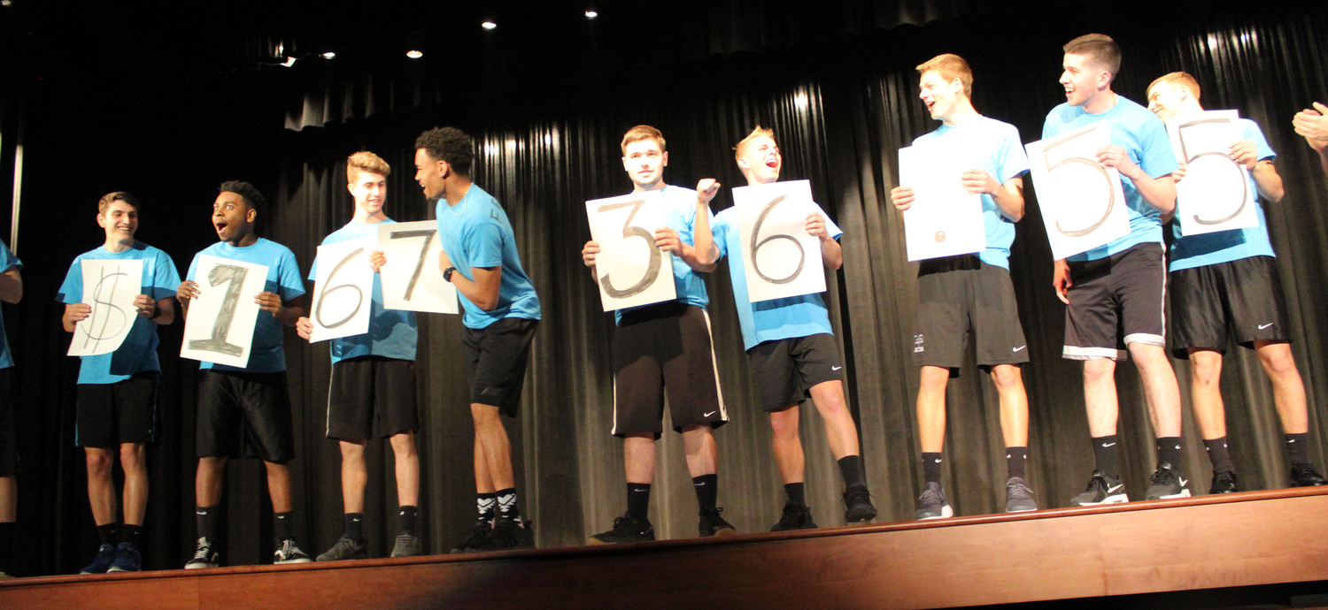 The Mr. Middletown contestants react after seeing that they raised over $16,000 during the pageant on April 13. On April 16, Cheryl Friedman said the boys actually raised over $18,000 after finishing tabulating the numbers.