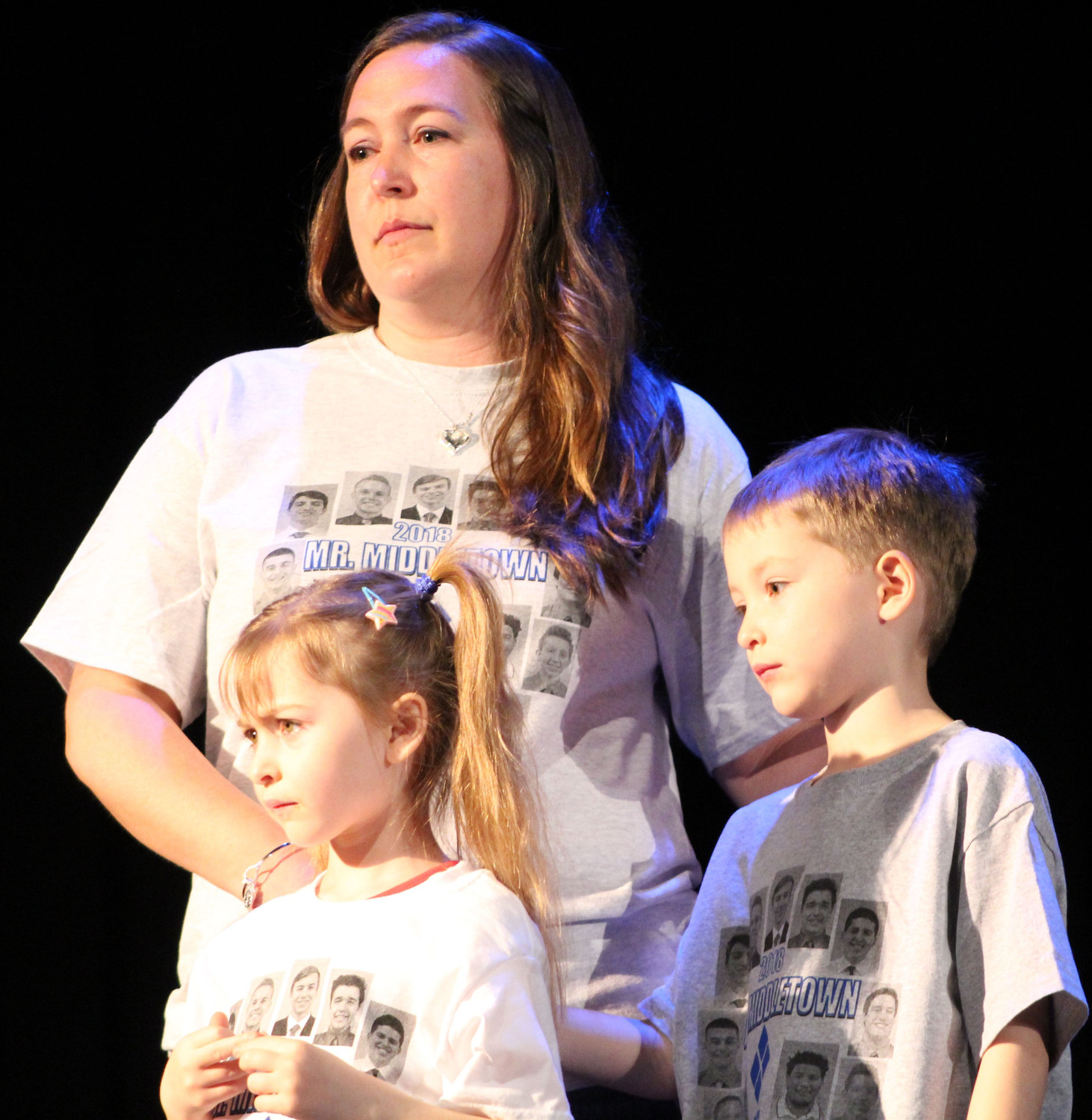 Nicole Gora stands with her children Zayla and Ayden – this year's Four Diamond family for MAHS' Mini-THON. Ayden was diagnosed with leukemia at age two in 2013.
