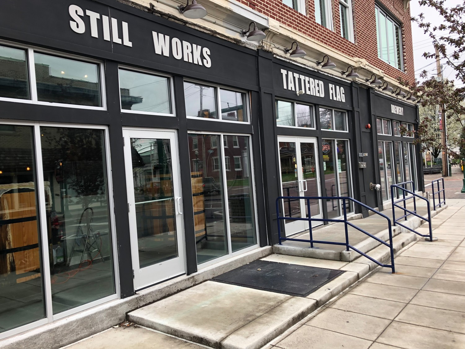 Tattered Flag has asked the borough permission to provide outdoor seating for up to 26 customers at eight tables in front of Tattered Flag's home in the former Elks Building at South Union and West Emaus streets.