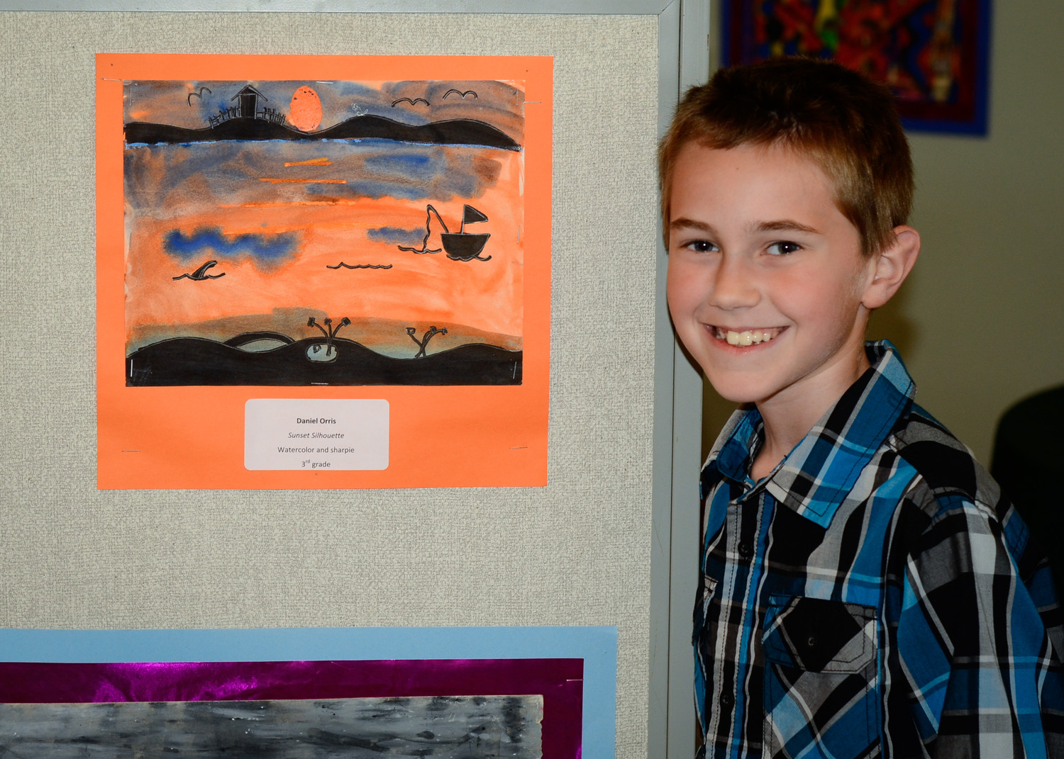 Daniel Orris, third-grader at Kunkel Elementary School.