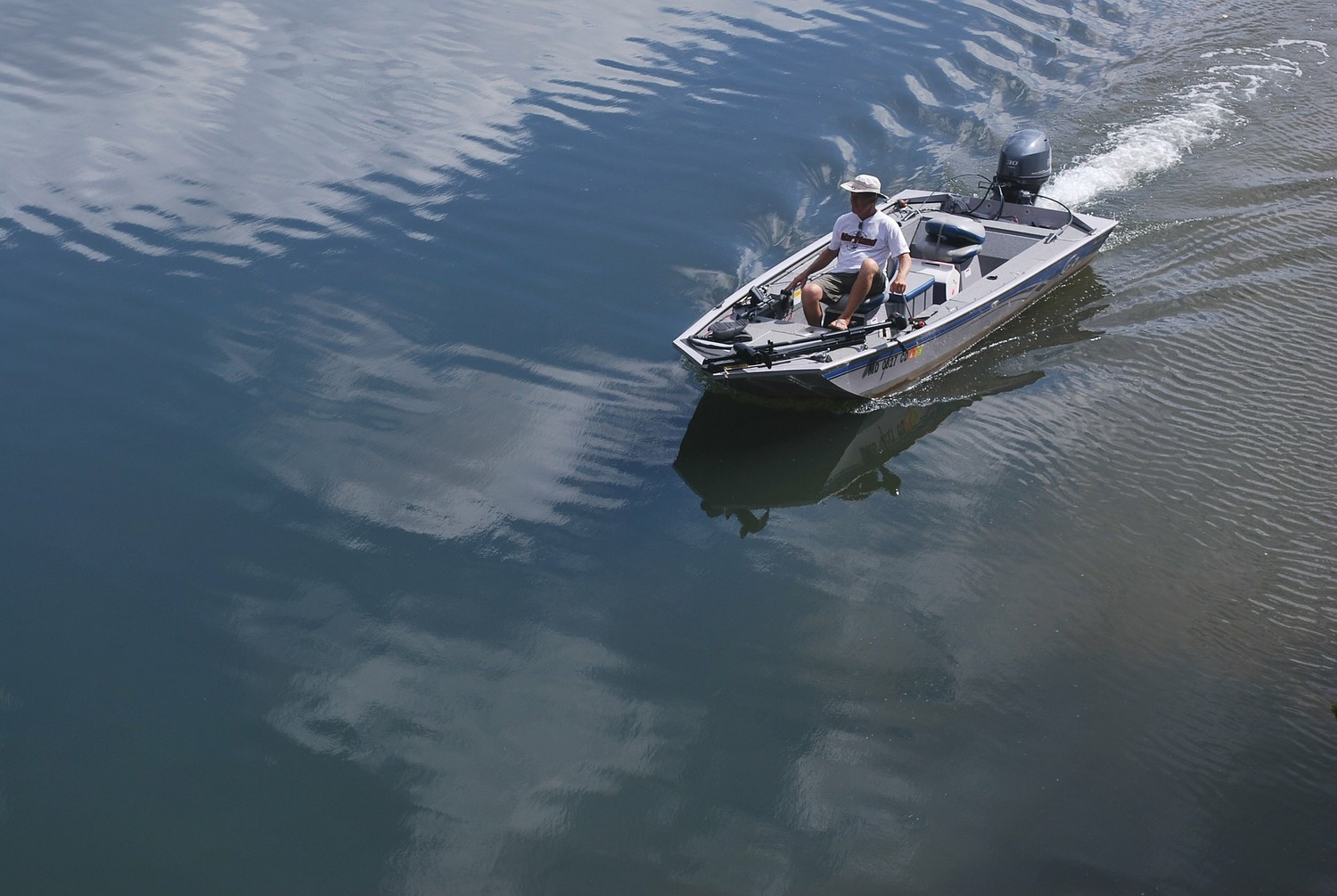 This boater has smooth sailing. Tom Shank wasn't so lucky when his boat got loose on the Susquehanna River several years ago.
