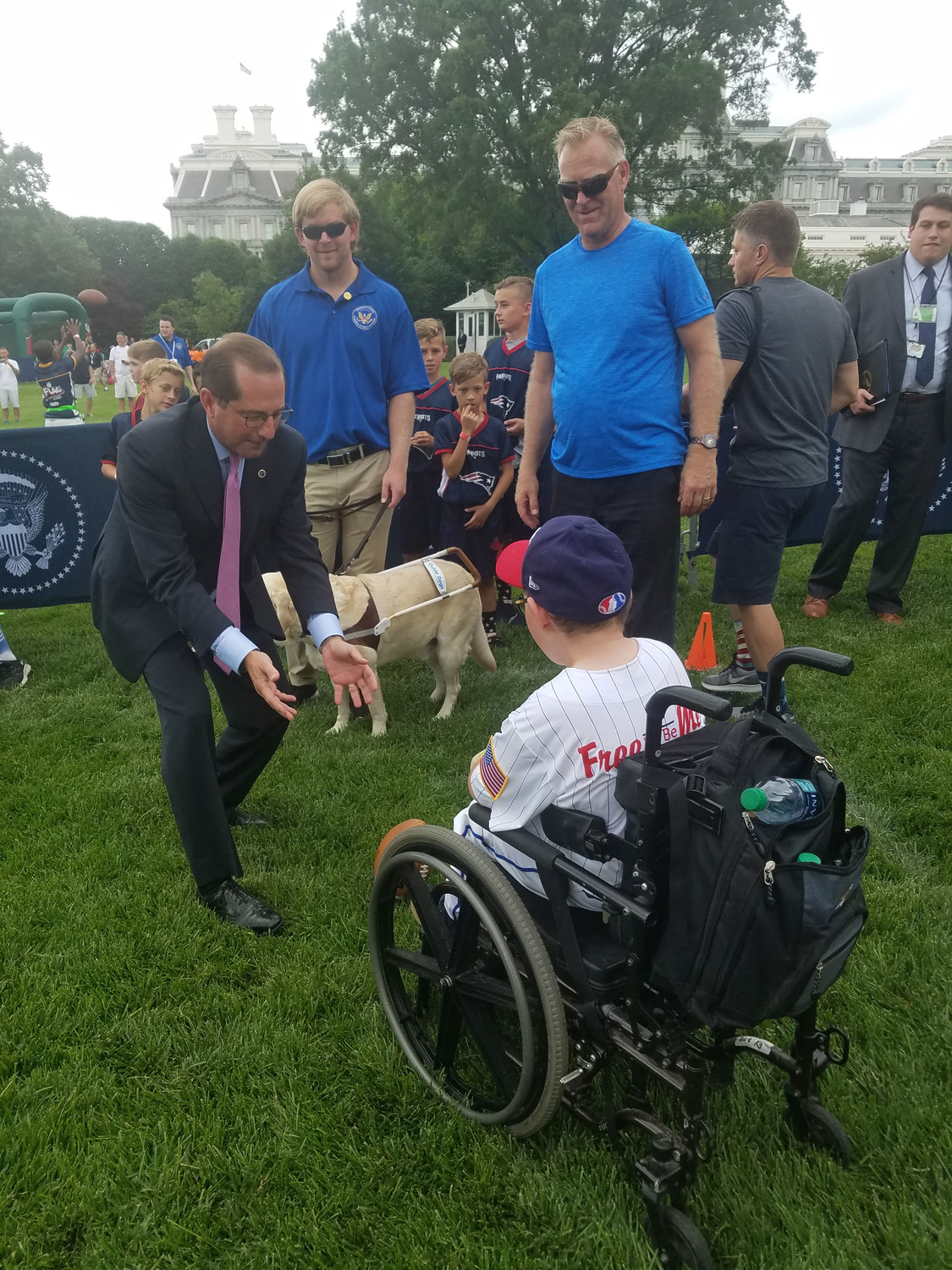 Ethan Whitaker met Secretary of Health and Human Services Alex Azar during a field day on May 30.