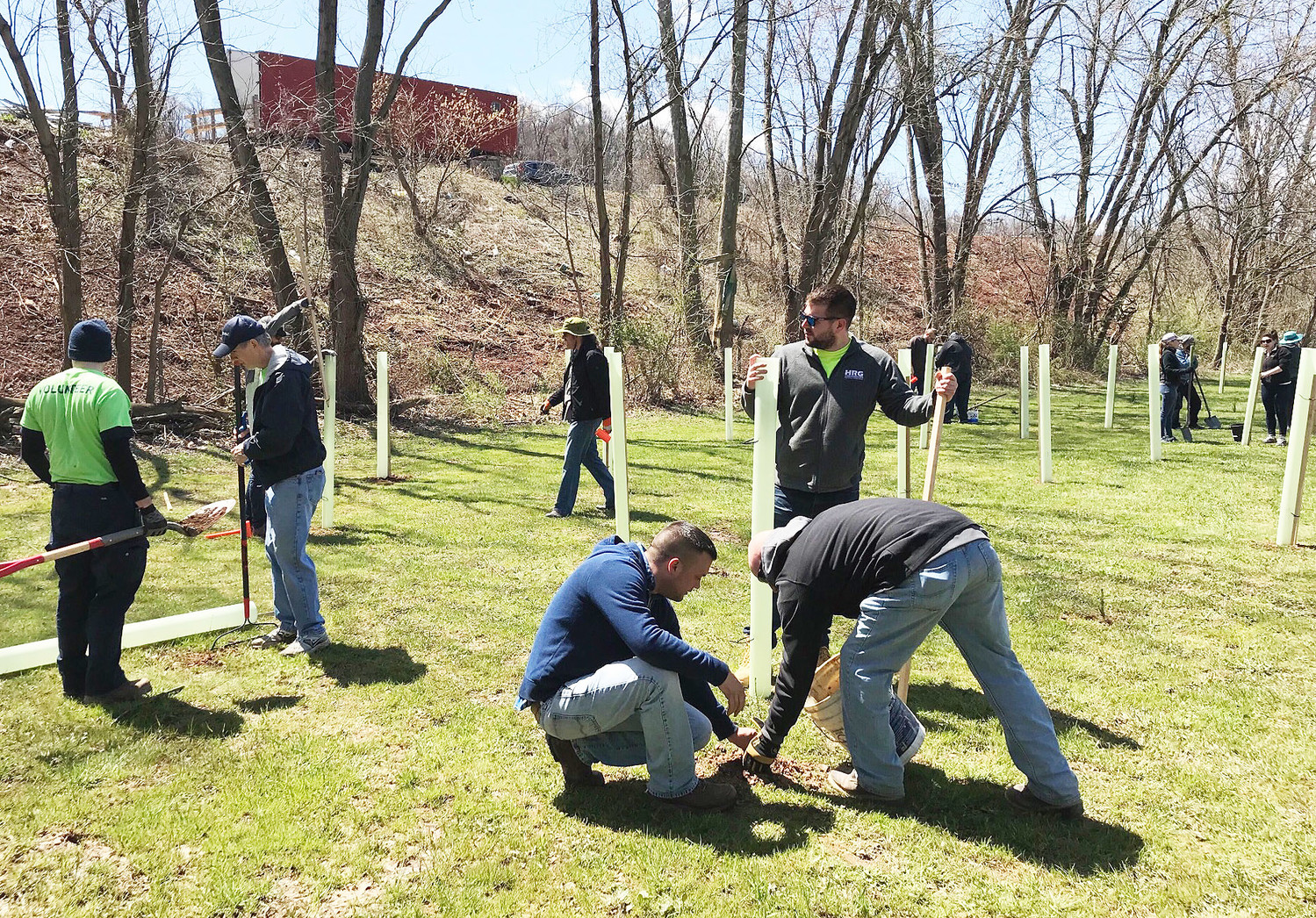 Manada Conservancy partnered with volunteers to plant 400 trees off Fulling Mill Road, near Swatara Creek.