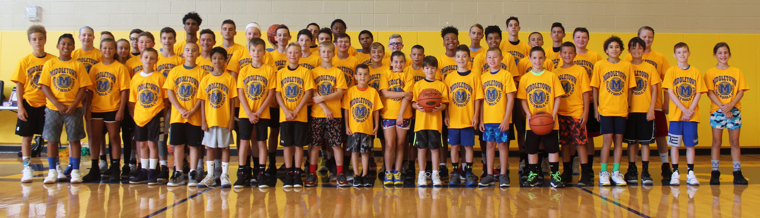 About 40 campers participated in Middletown Area School District's basketball camp from July 9-12.