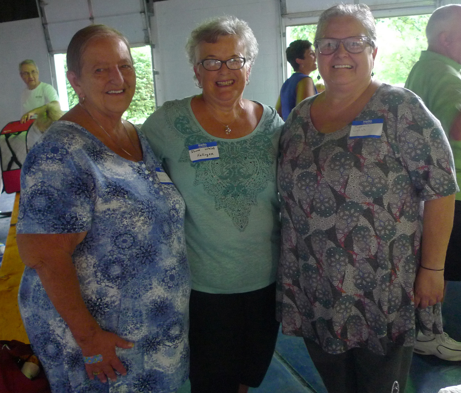 """Proud to be River Rats""--Sisters Nancy Lou Welsh-Emrich, Donna Welsh Fallinger, and Jeannie Welsh attended The Milk Bar reunion at Hoffer Park in Middletown on August 8."