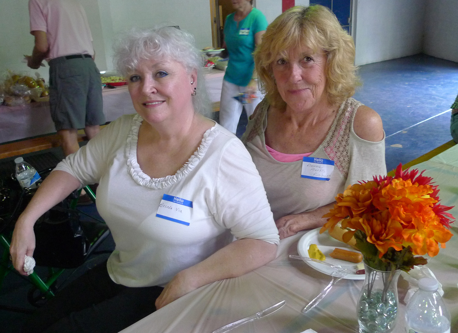 Brenda Via (left) and Deena Marks Rishar at The Milk Bar reunion.