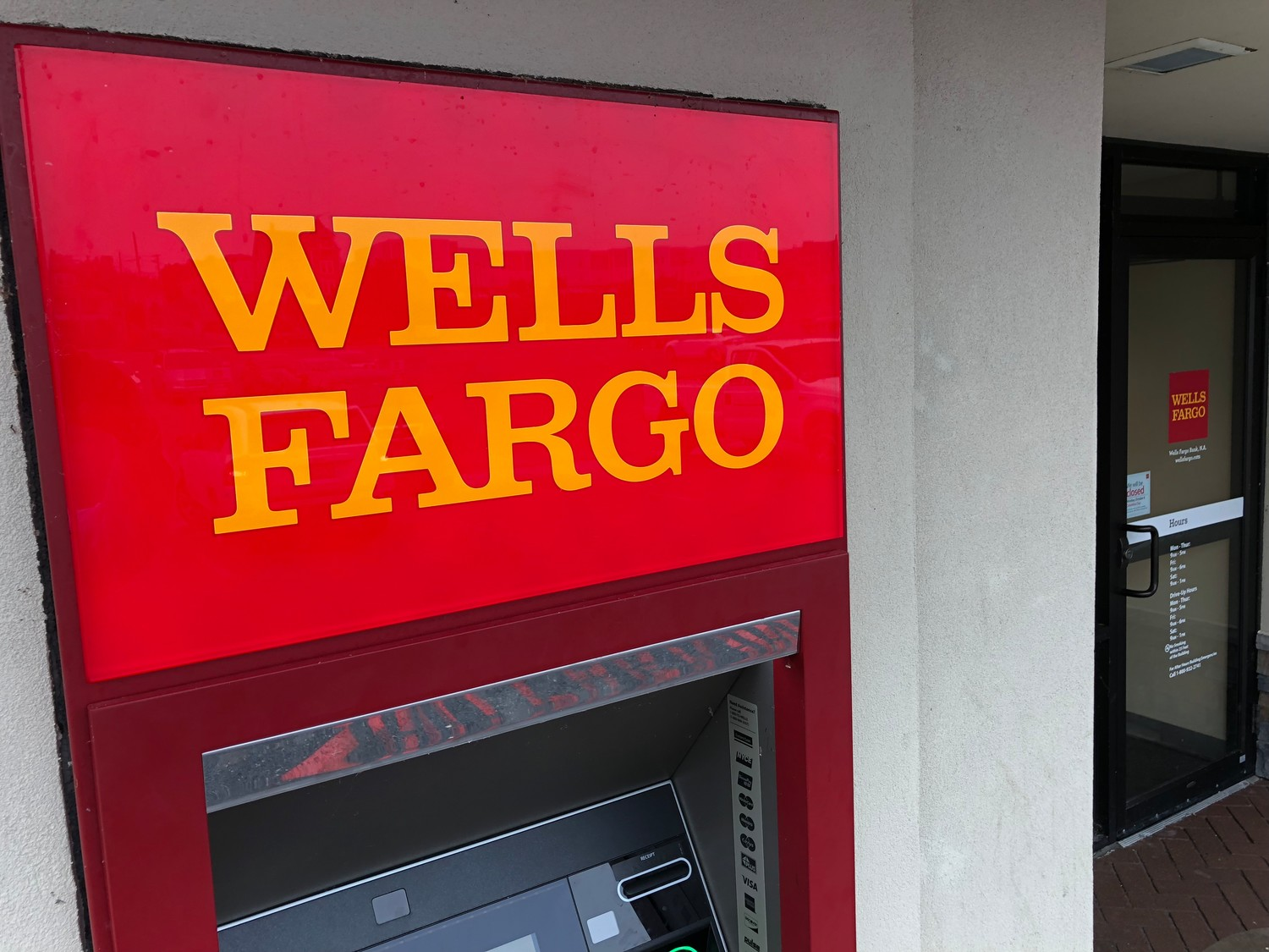 The Wells Fargo on West Main Street was open Wednesday, a day after an attempted bank robbery there.