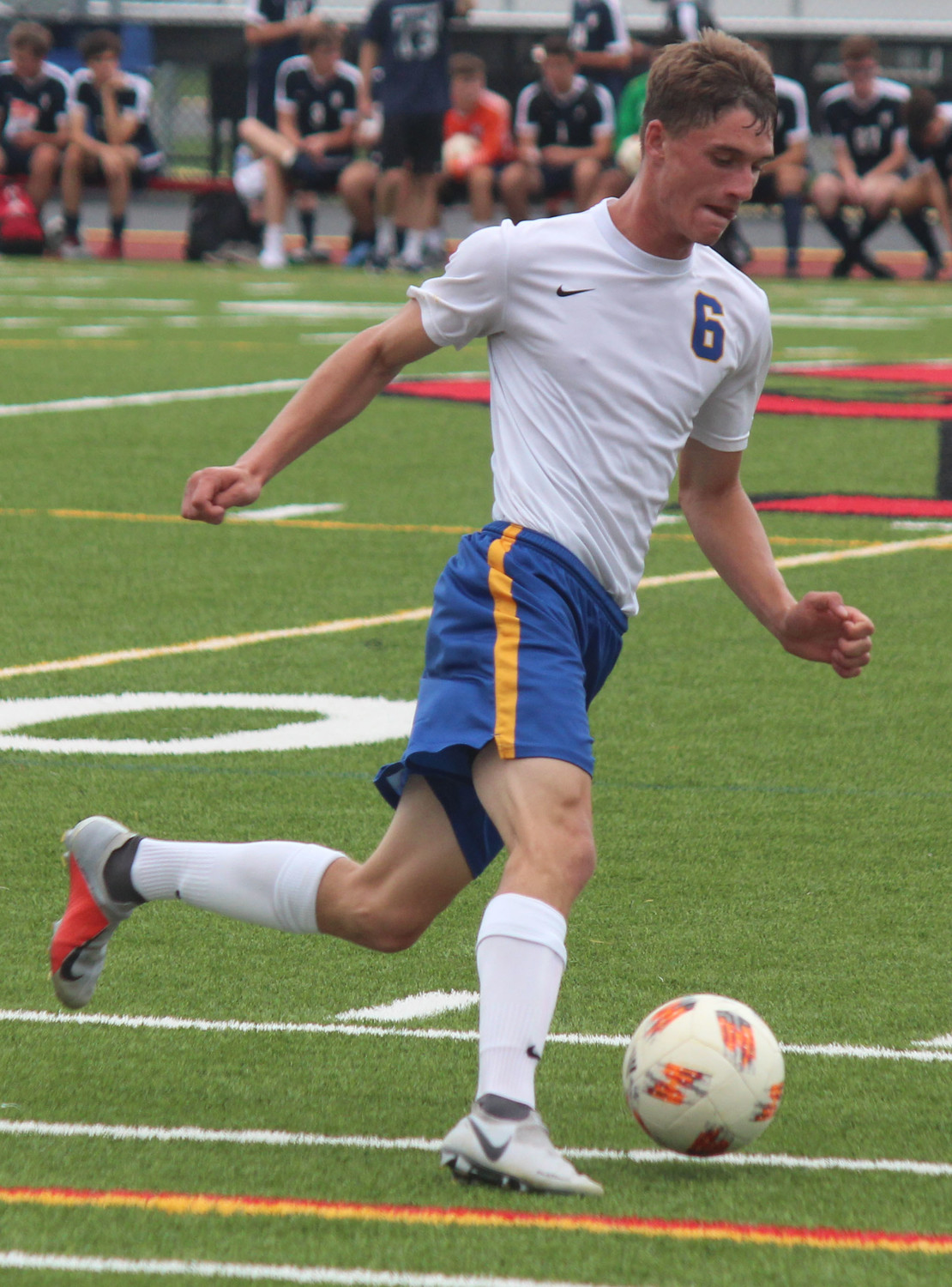 Brady Keyser with control of the ball Sept. 1 vs. Wyomissing.