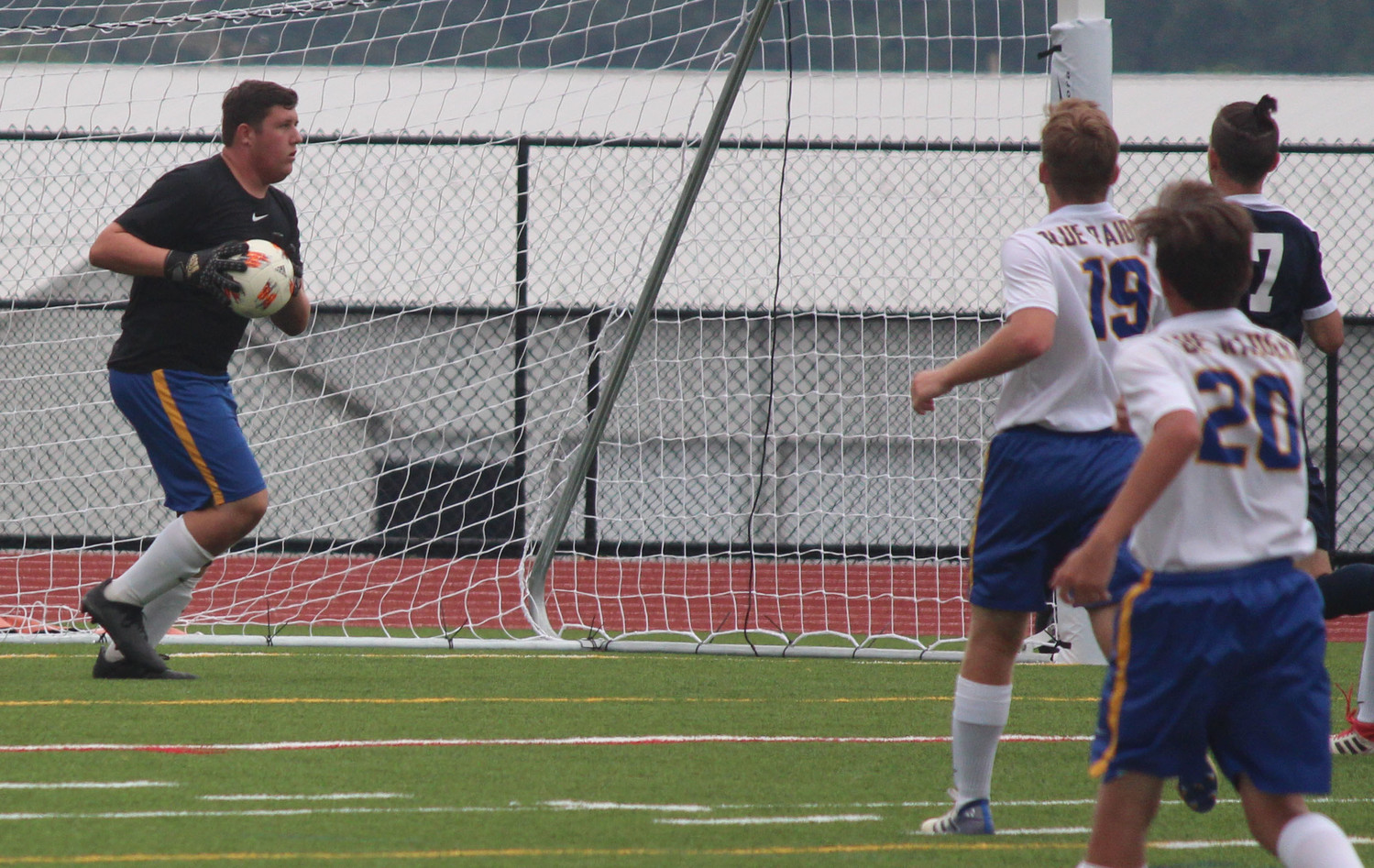 Dane Ebersole makes a save Sept. 1 vs. Wyomissing.