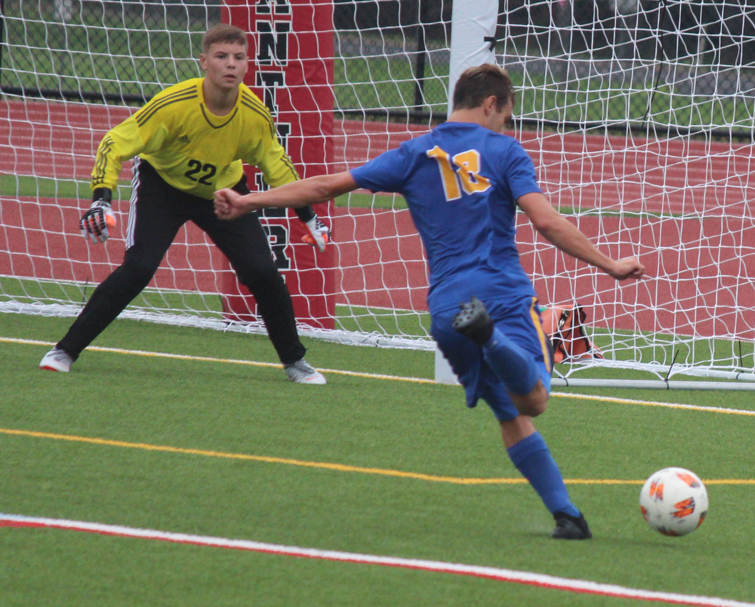Anthony Lavia takes a shot Sept. 1 vs. the Schuylkill Valley Panthers.