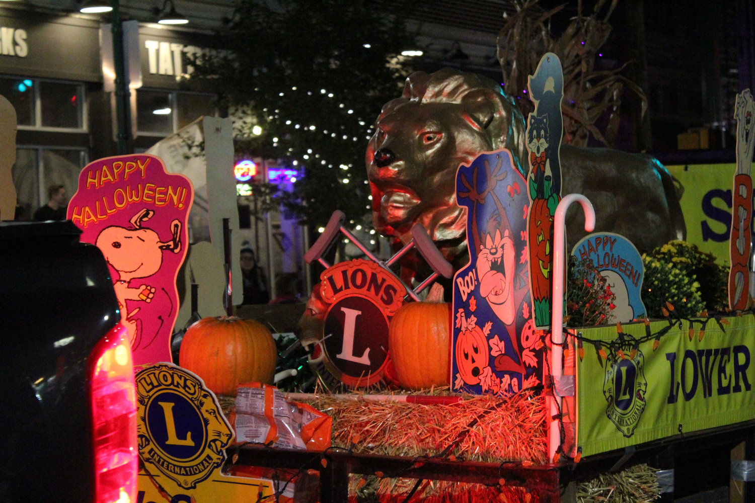 The Lower Swatara Lions Club's float during the Halloween parade on Oct. 16.