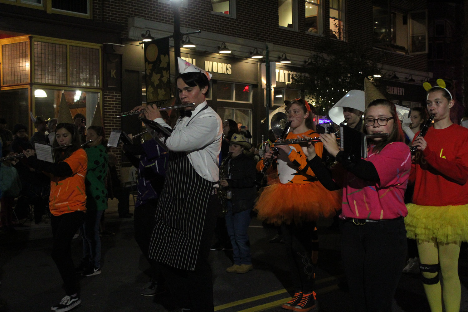 The Middletown Area High School Band walks in the Halloween parade on Oct. 16.