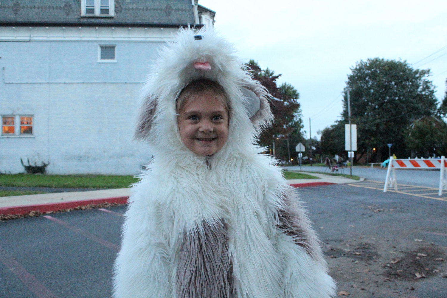 Dagny Bannister dressed up as a dog for the Halloween parade on Oct. 16.
