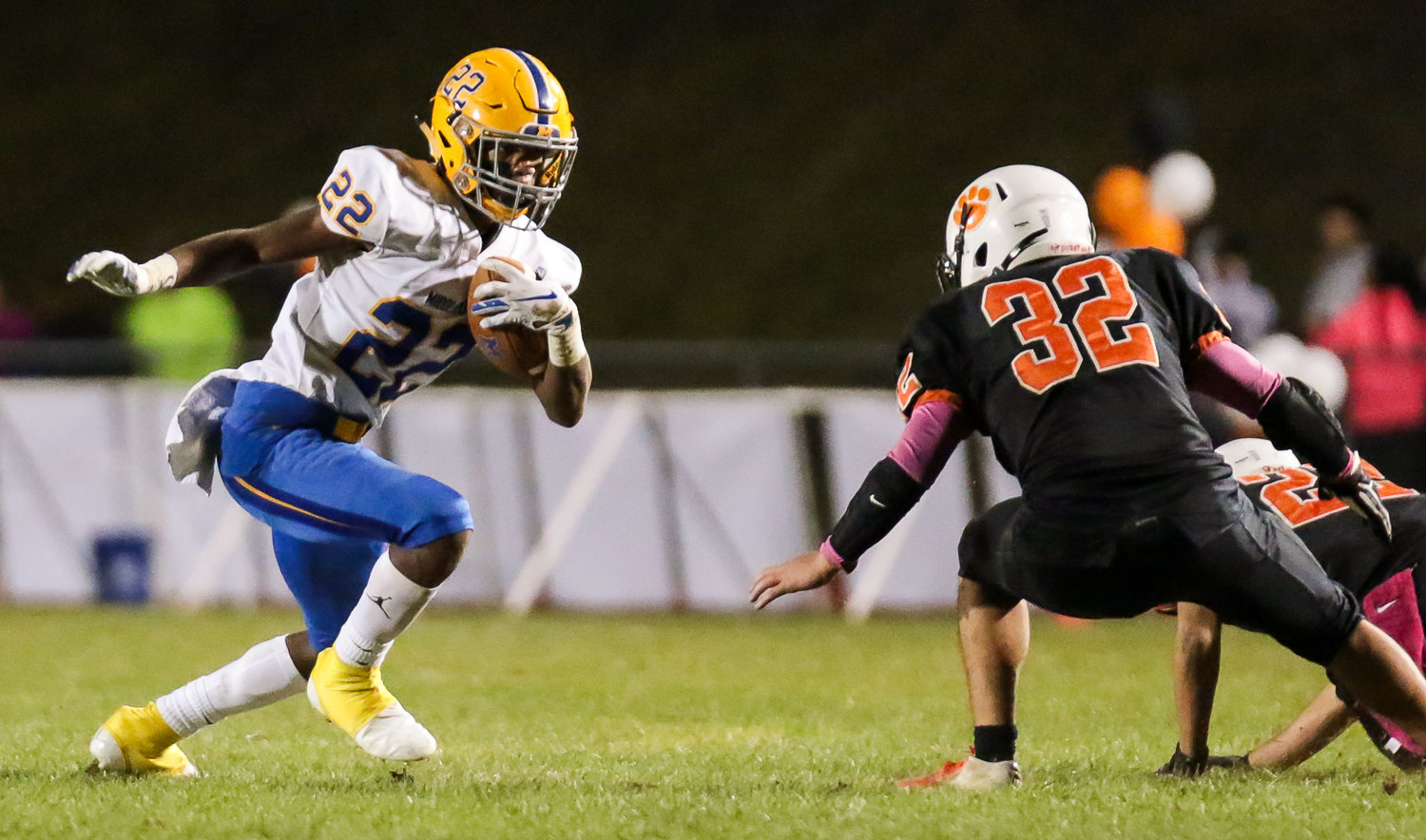 Chris Joseph looks for running room Oct. 19 vs. East Pennsboro.