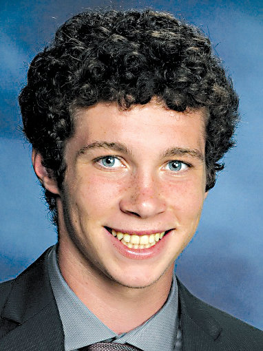 Mason James Guckavan, in his 2016 Middletown Area High School graduation picture.