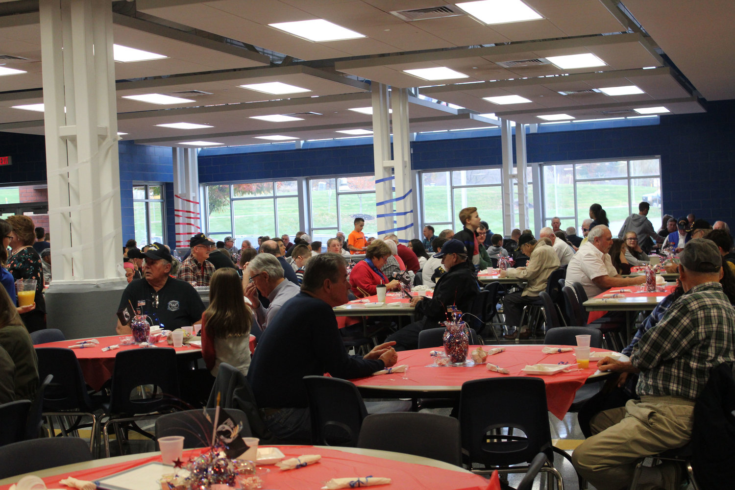 Veterans, their family members, and students gathered for breakfast at MAMS on Nov. 9 as part of the school's Veterans Day program.