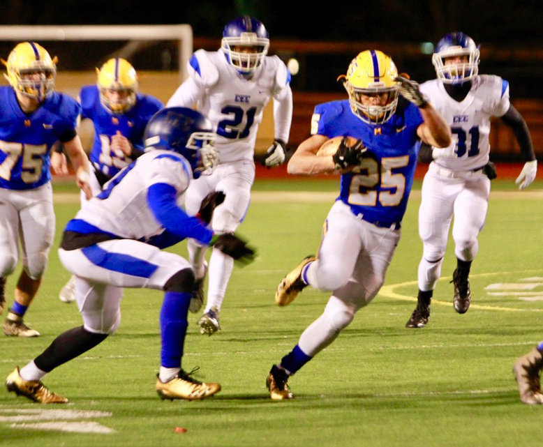 Running back Jose Lopez finds running room during Middletown's 21-14 win over Conwell-Egan at Milton Hershey High School in the PIAA 3A state quarterfinals Nov. 23.
