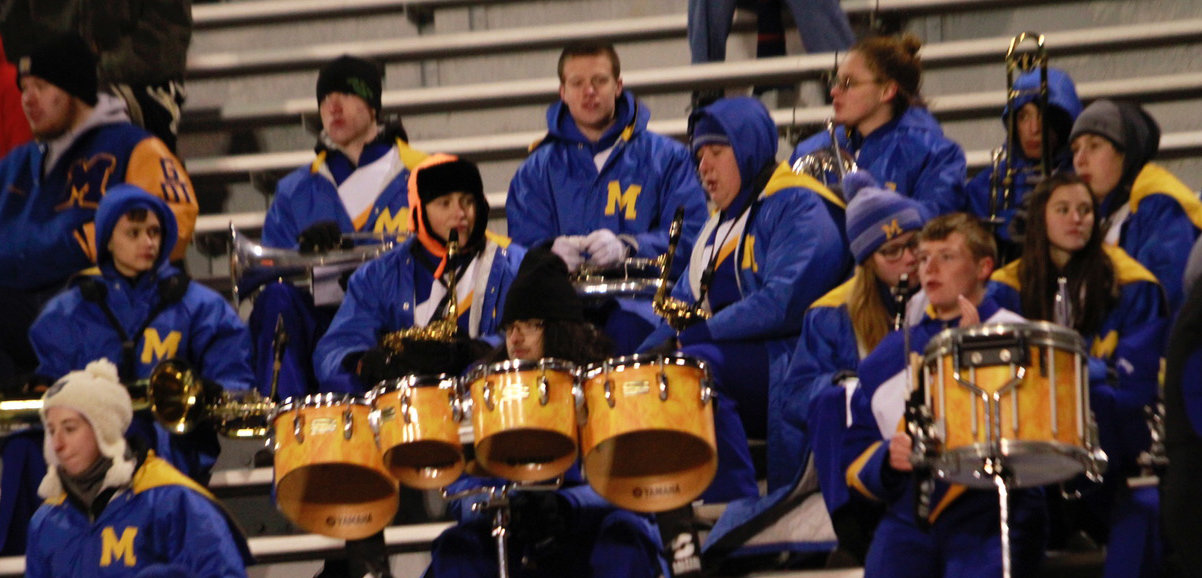 The Middletown band plays during the Blue Raiders' 21-14 win over Conwell-Egan at Milton Hershey High School in the PIAA 3A state quarterfinals Nov. 23.