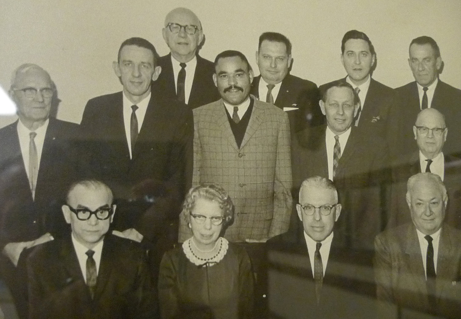 This photo hanging on the wall in Council Chambers shows Edward Willenbecher as a member of Middletown Borough Council in 1968. He is the second person in from the left in the second row. Right of Willenbecher is present-day Councilor Robert Reid, who began his first term as a Middletown elected official on the council in 1968.