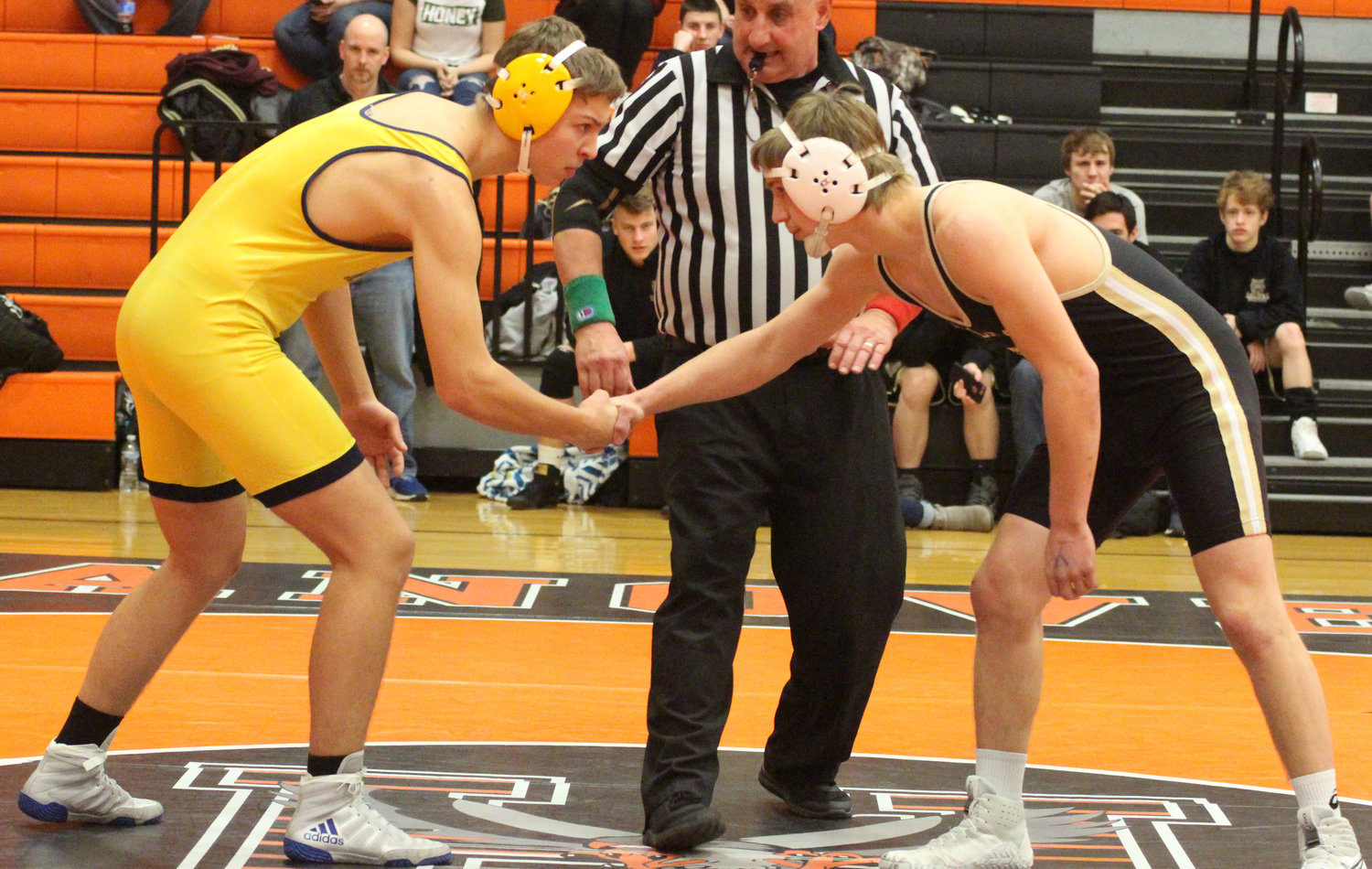 Jules Stevens, a foreign exchange student from Germany, got his first taste of Pennsylvania wrestling at the Snacktown Duals.