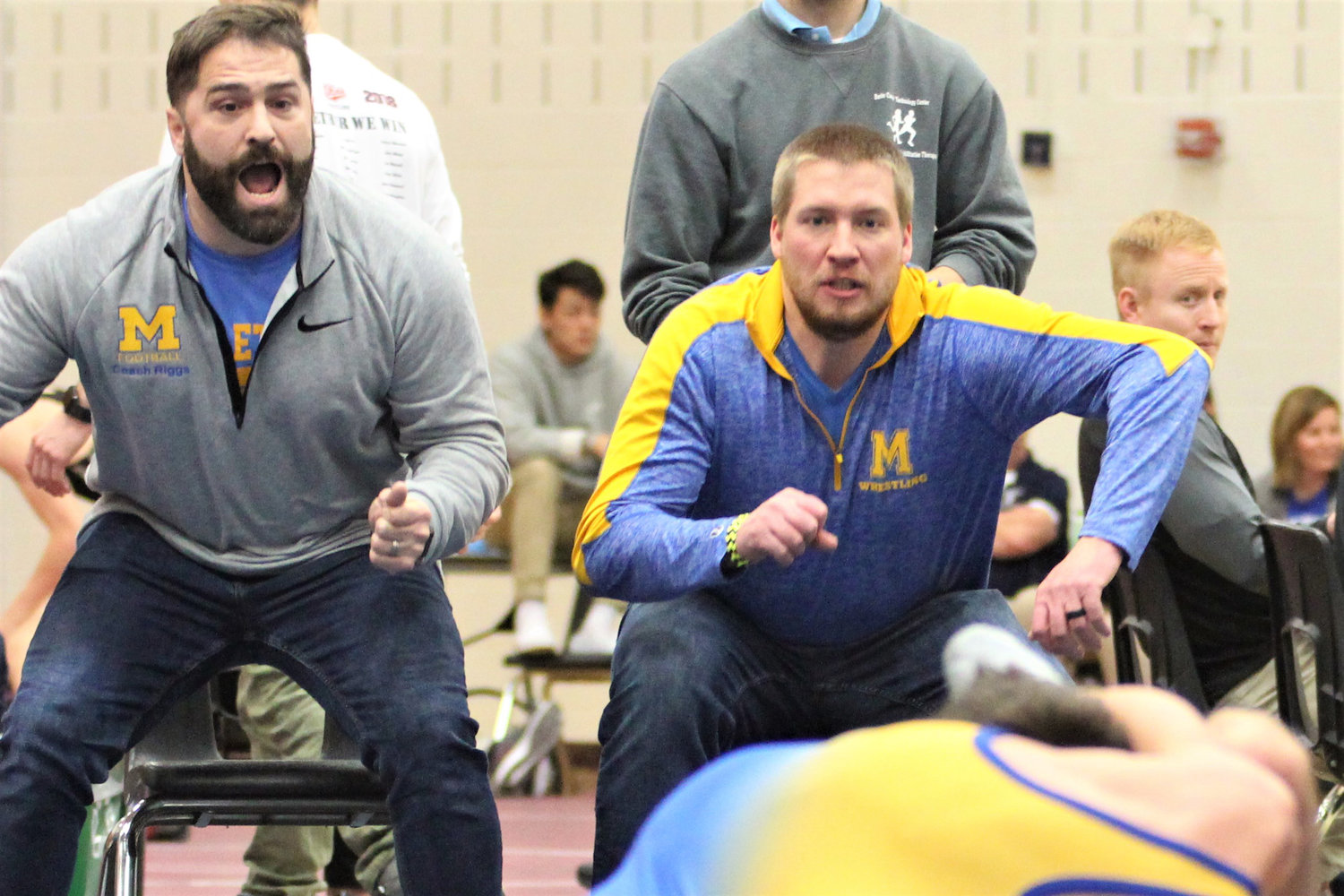 Middletown coaches get into a match at the Governor Mifflin Holiday Tournament.
