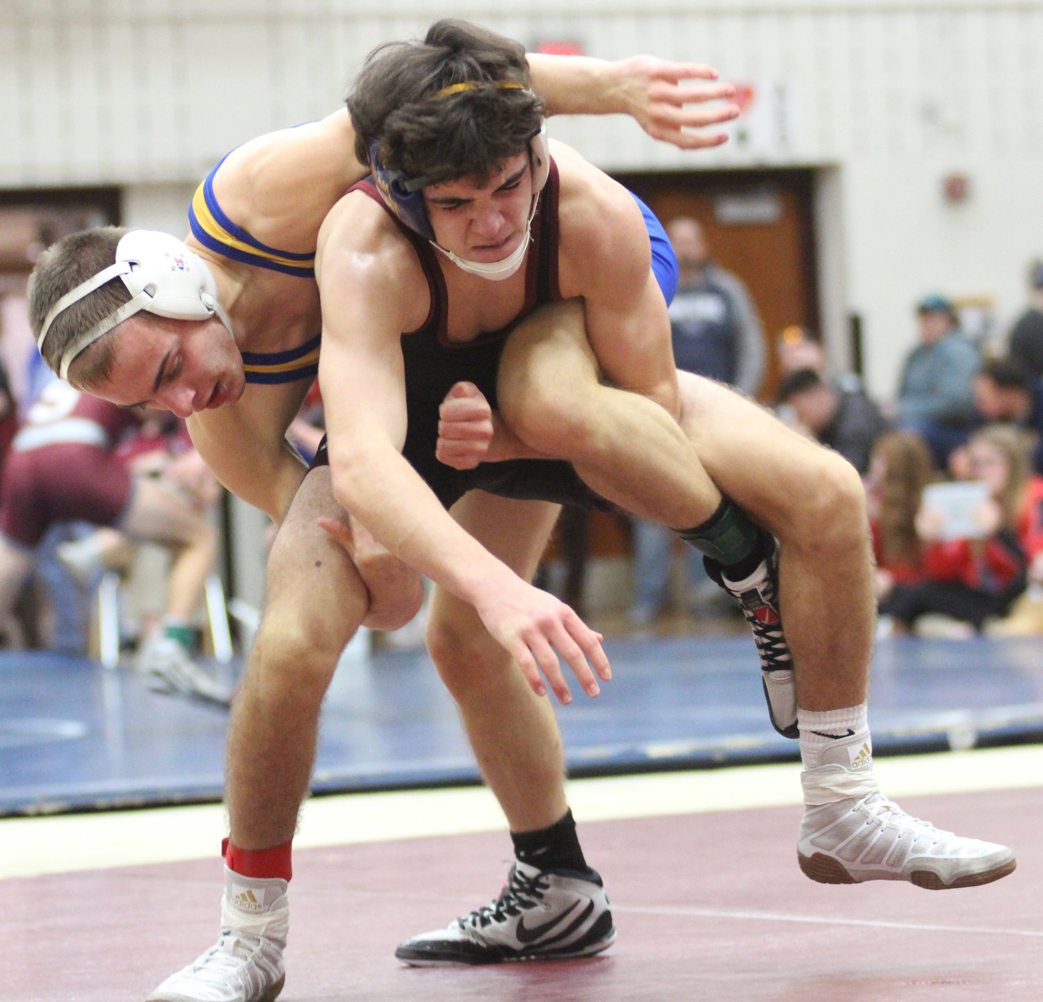 In the championship finals match, Nate Brady beat No. 1 seed from Conestoga, Mitch Baker. in the Governor Mifflin Holiday Tournament.