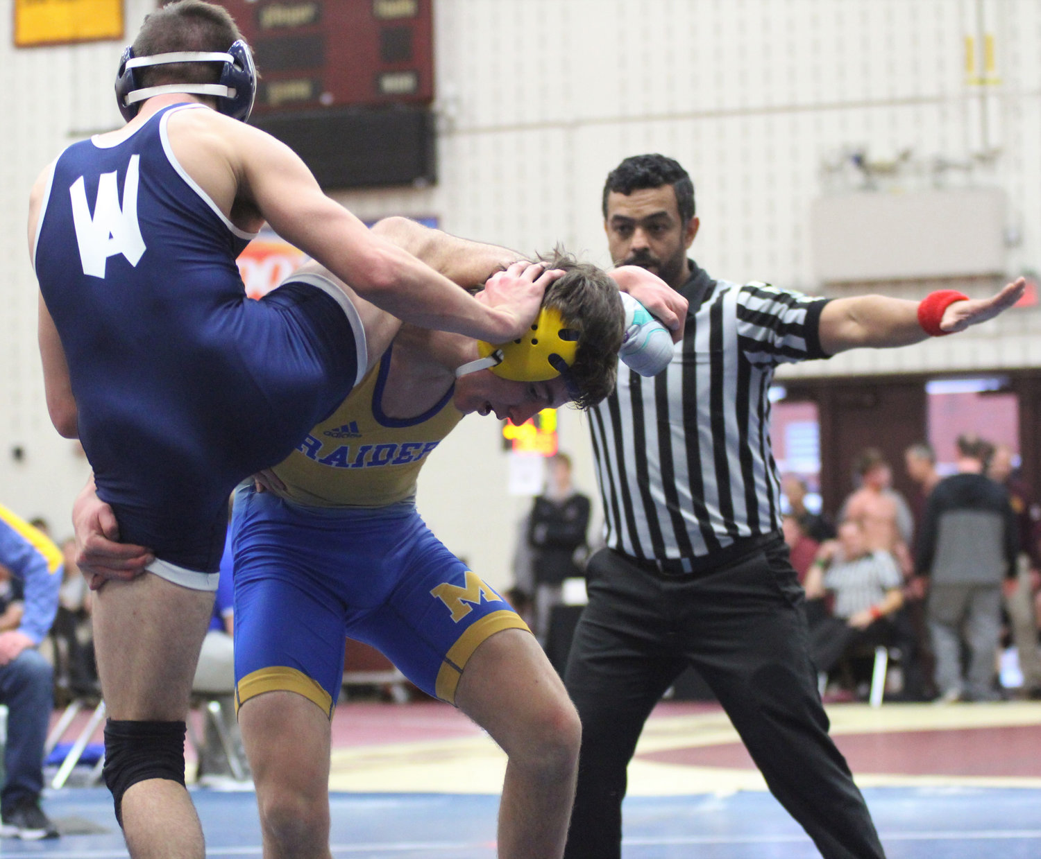 Ryan Berstler lost in overtime to Wyomissing standout Anthony Gust in the Governor Mifflin Holiday Tournament.