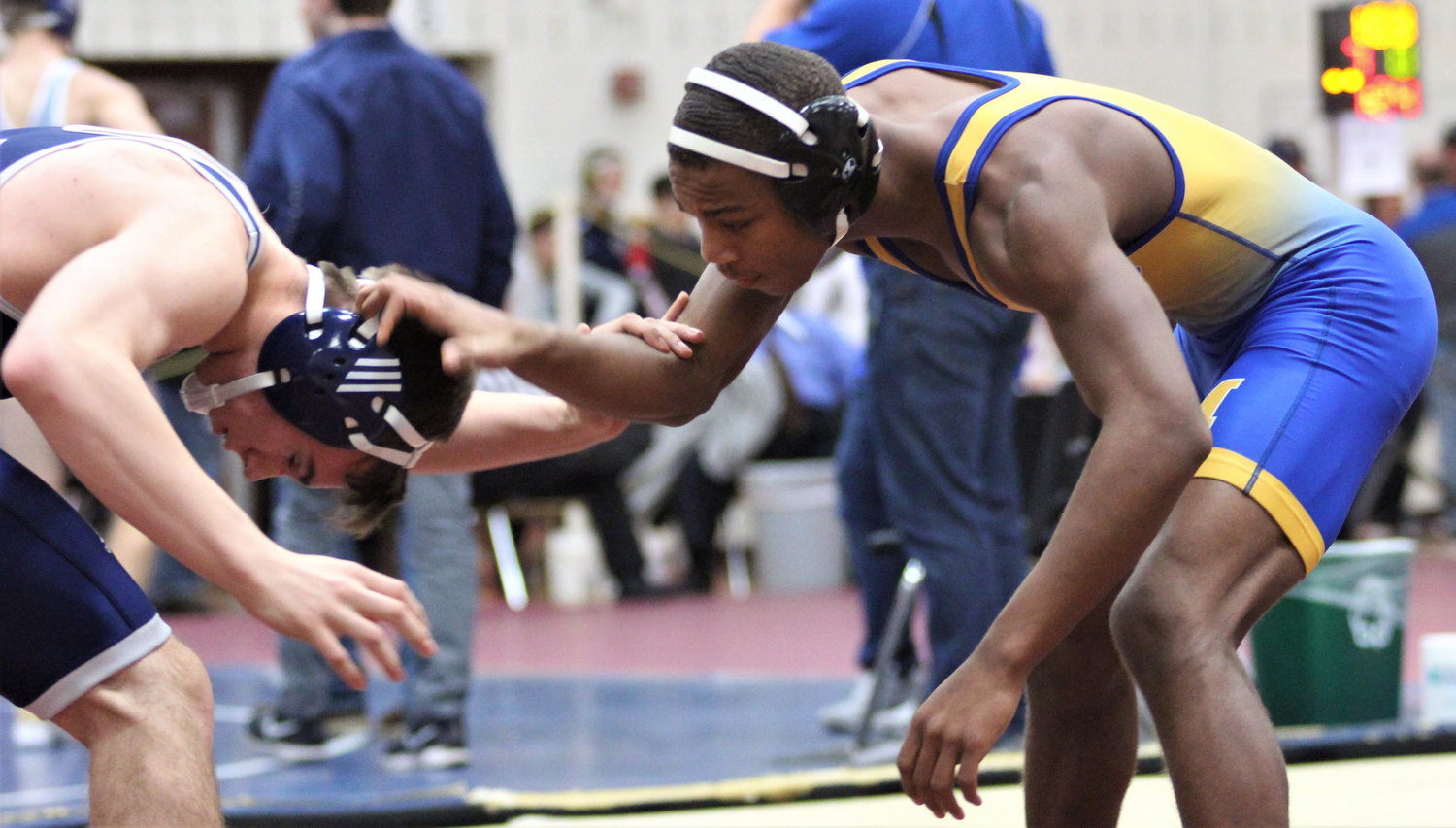 Chris Joseph wrestles in the Governor Mifflin Holiday Tournament.