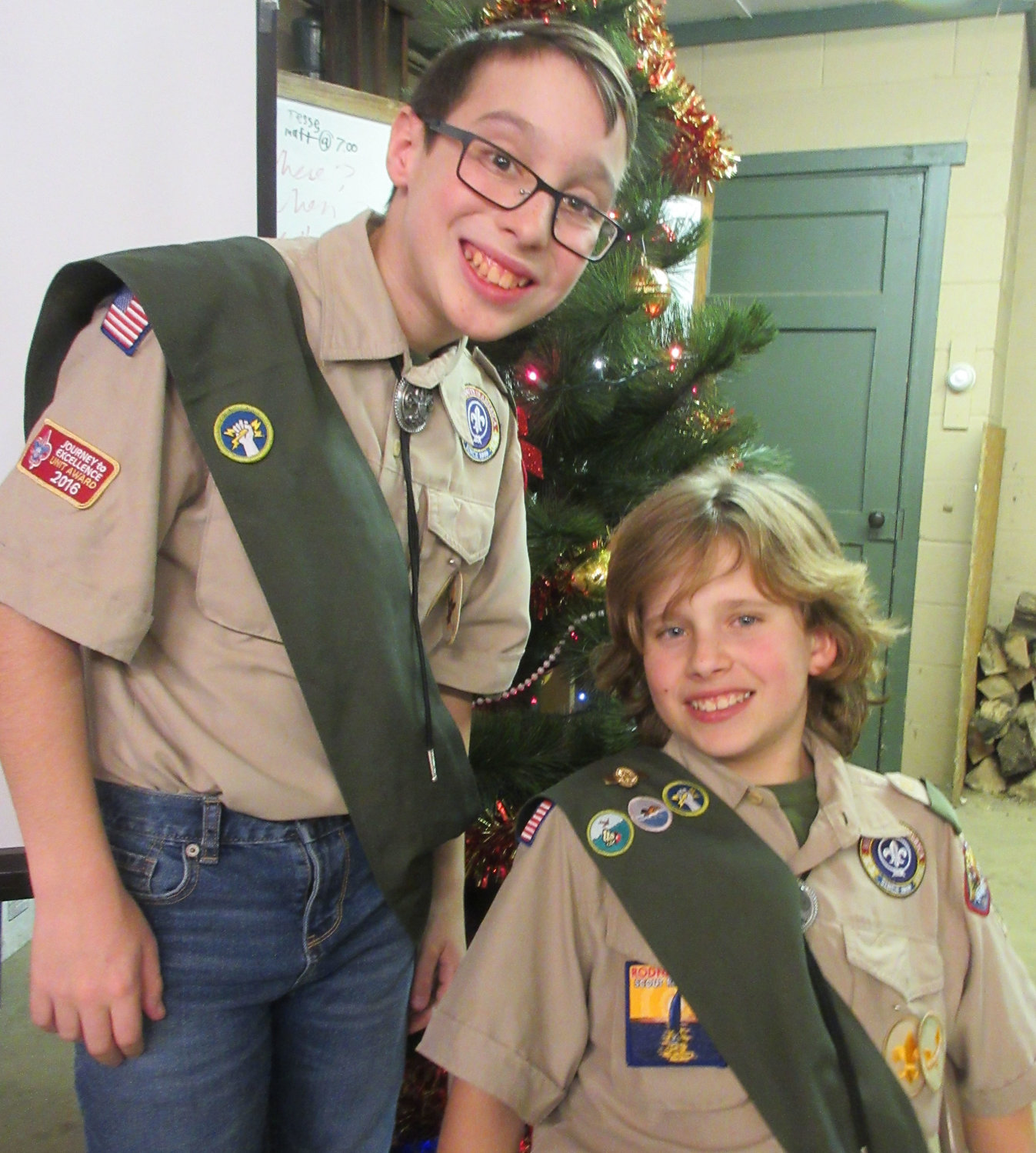 Jaime Gallick and Jesse Reigle were advanced to the rank of Tenderfoot at the awards banquet. Jesse then took the oath of Second Class Scout, which Jaime will achieve in the near future.