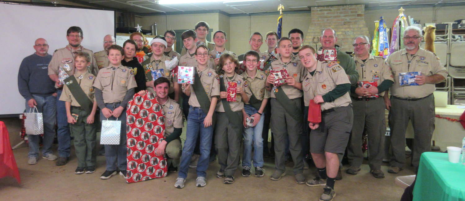 Scouts and leaders of Boy Scout Troop 97 had a lot to celebrate during their holiday Court of Honor at the Londonderry Scouting Complex.