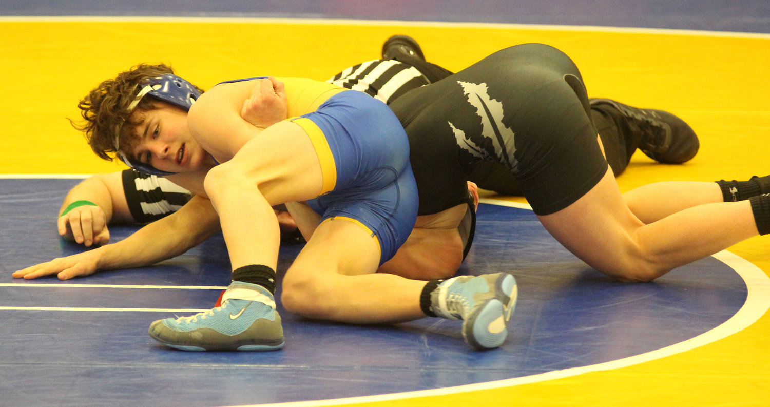 Against Palmyra on Jan. 17, Middletown's Luke Fegley was victorious.