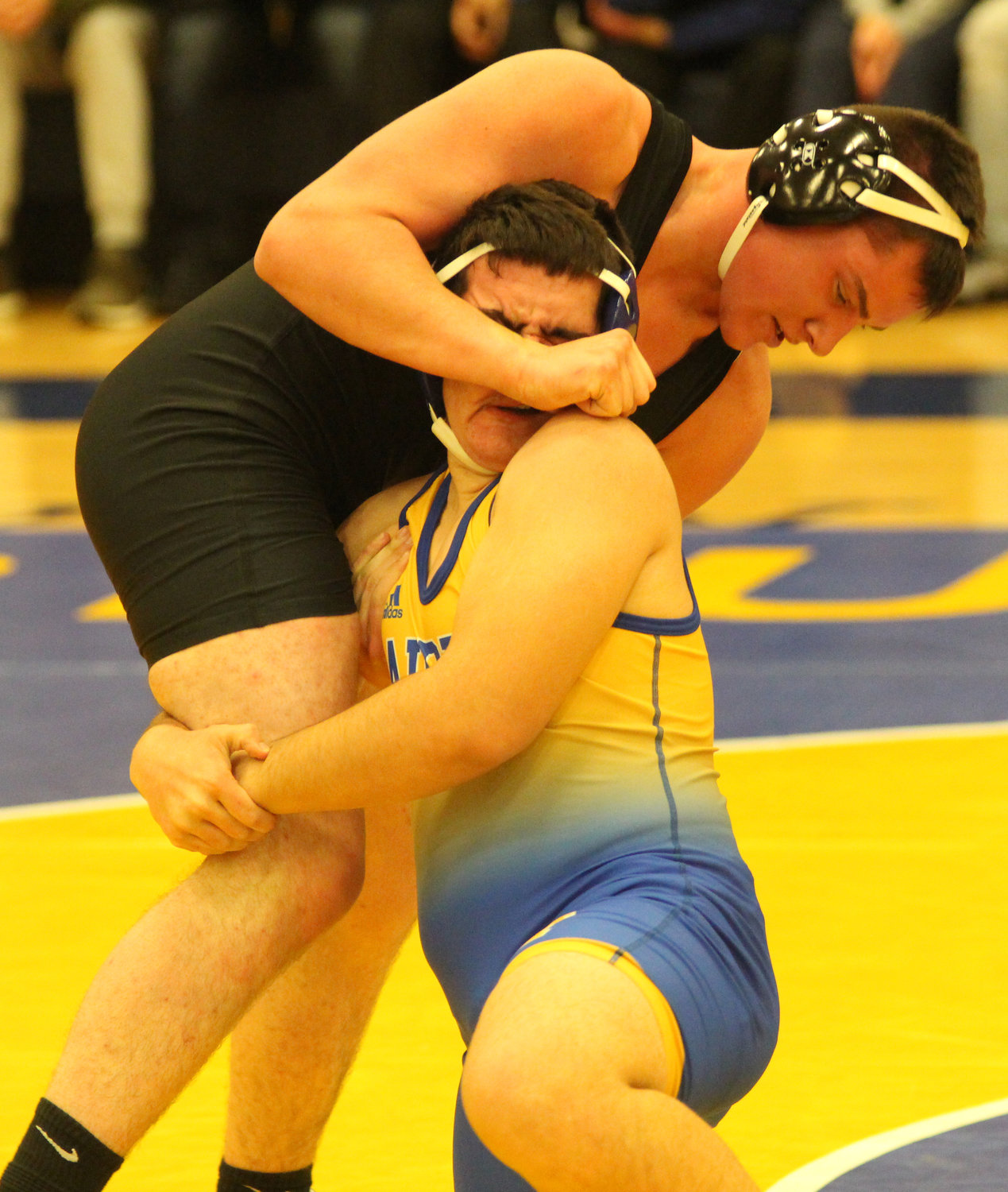 Against Palmyra on Jan. 17 Middletown sophomore Matthew Mitchell rallied to secure a 7-6 come-from-behind victory at 195 pounds, and guaranteed the Raider victory.