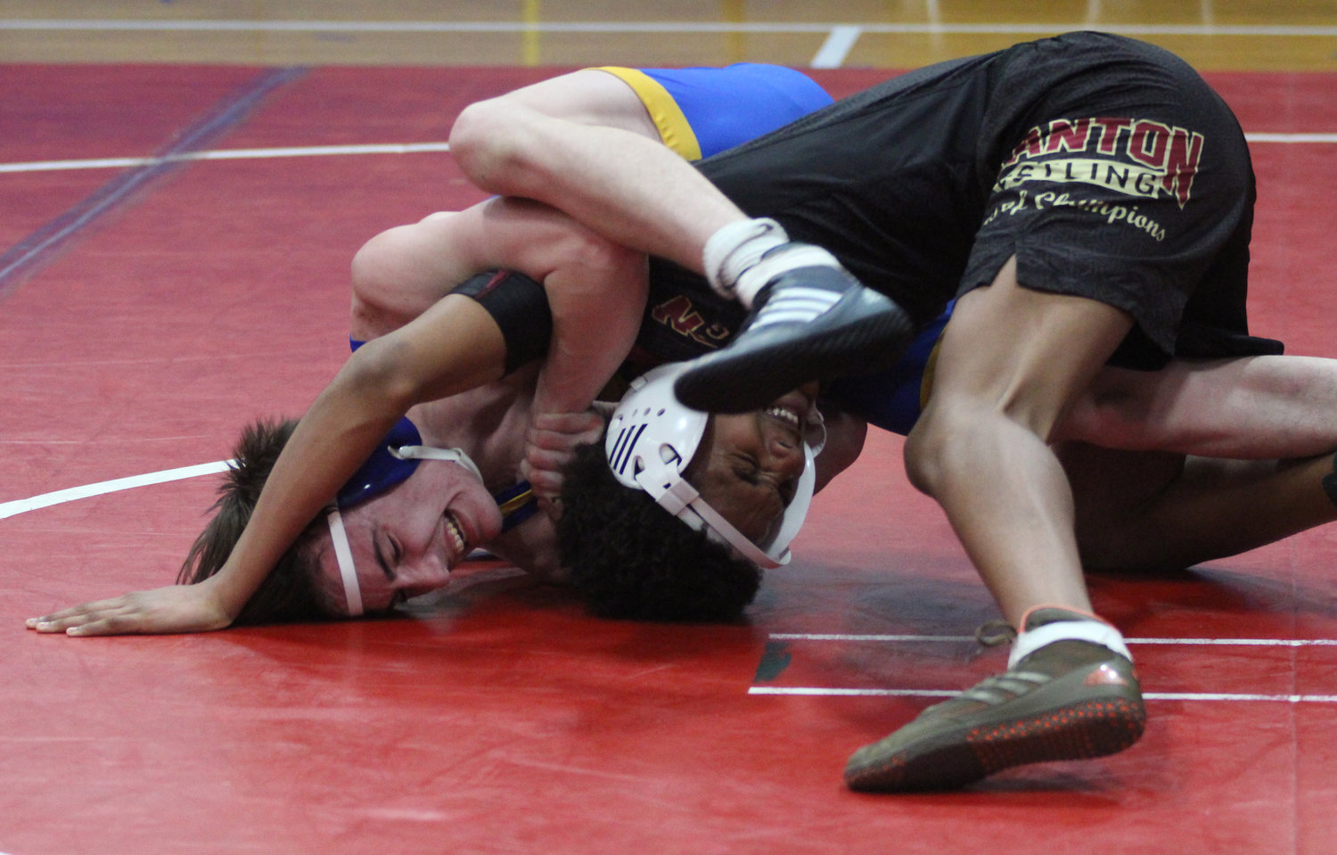Kenny Britcher took on Miguel Guillen from Scranton at the New Oxford tournament on Jan. 18.