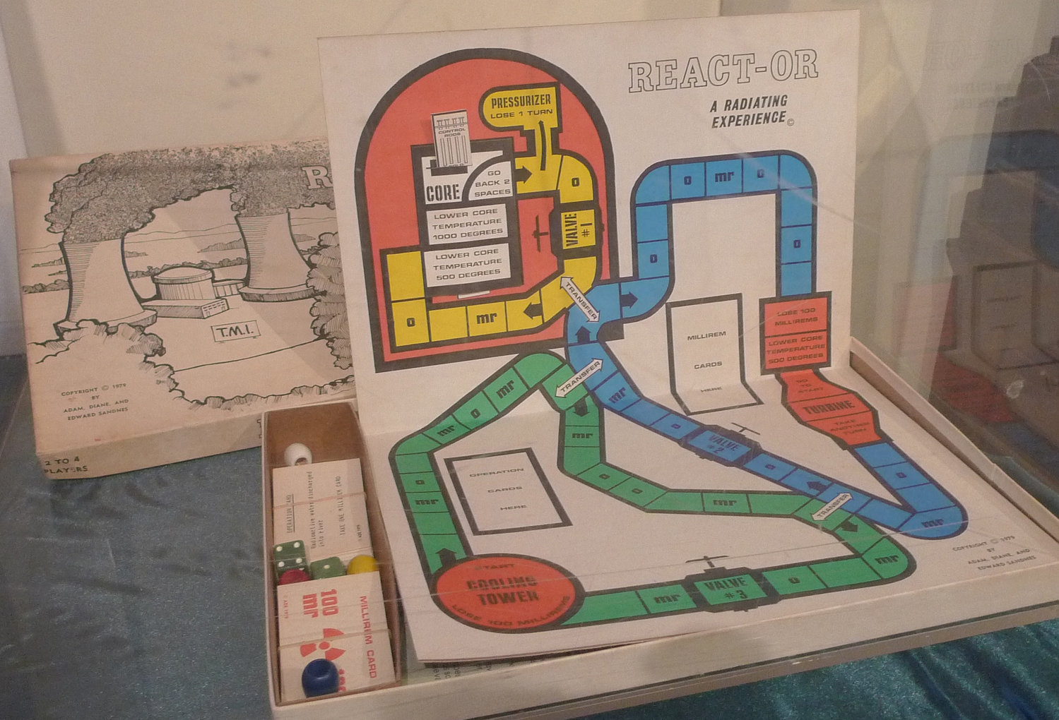 This board game is part of the exhibit now on display at the Middletown Area Historical Society at 29 E. Main St. commemorating the 40th anniversary of the accident at Three Mile Island.