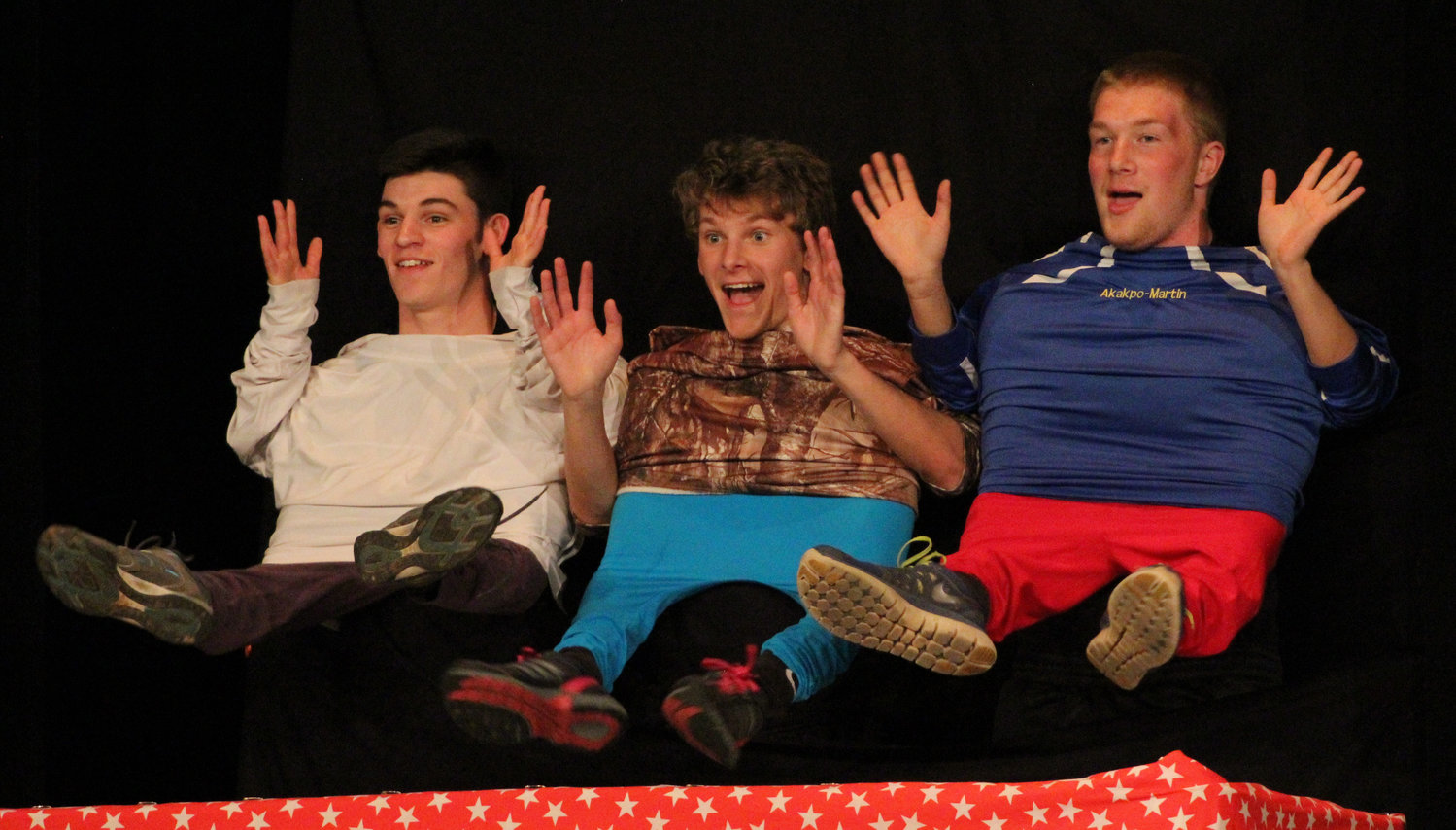 Scott Ash, Ben Knisely and Ethan Miller perform during Mr. Middletown on March 29.