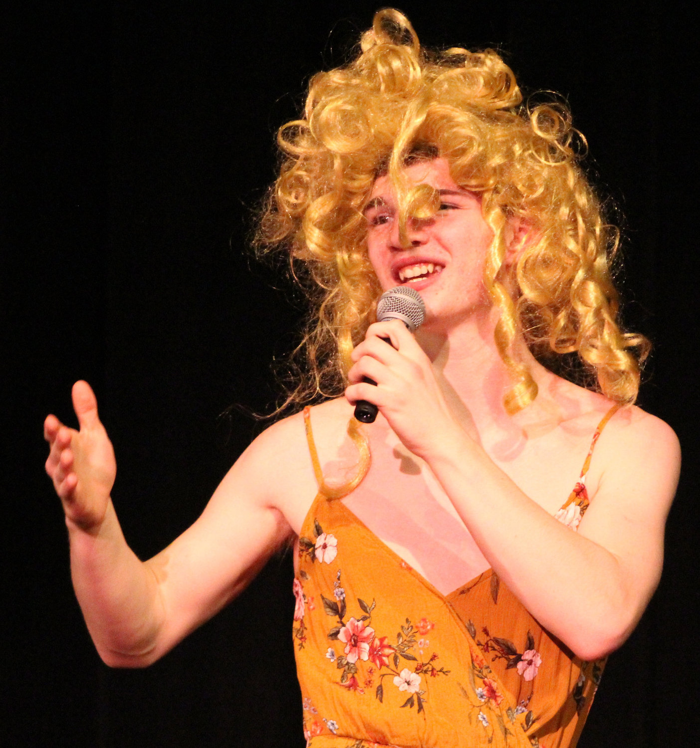 "TJ Garris lipsyncs to Taylor Swift's ""You Belong With Me"" during Mr. Middletown on March 29."