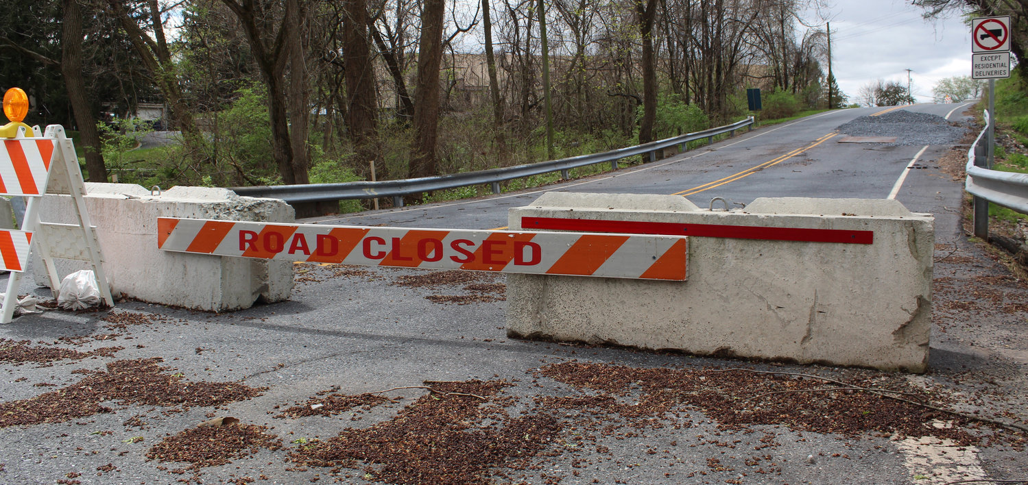 Spring Garden Drive, west of Lumber Street, has been closed since February.